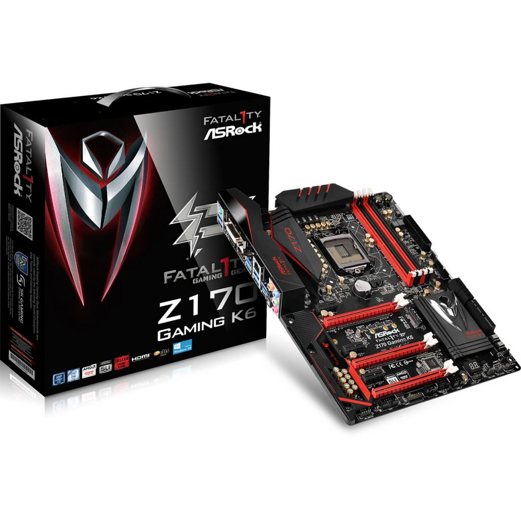 Материнская плата ASRock FATAL1TY Z170 Gaming K6