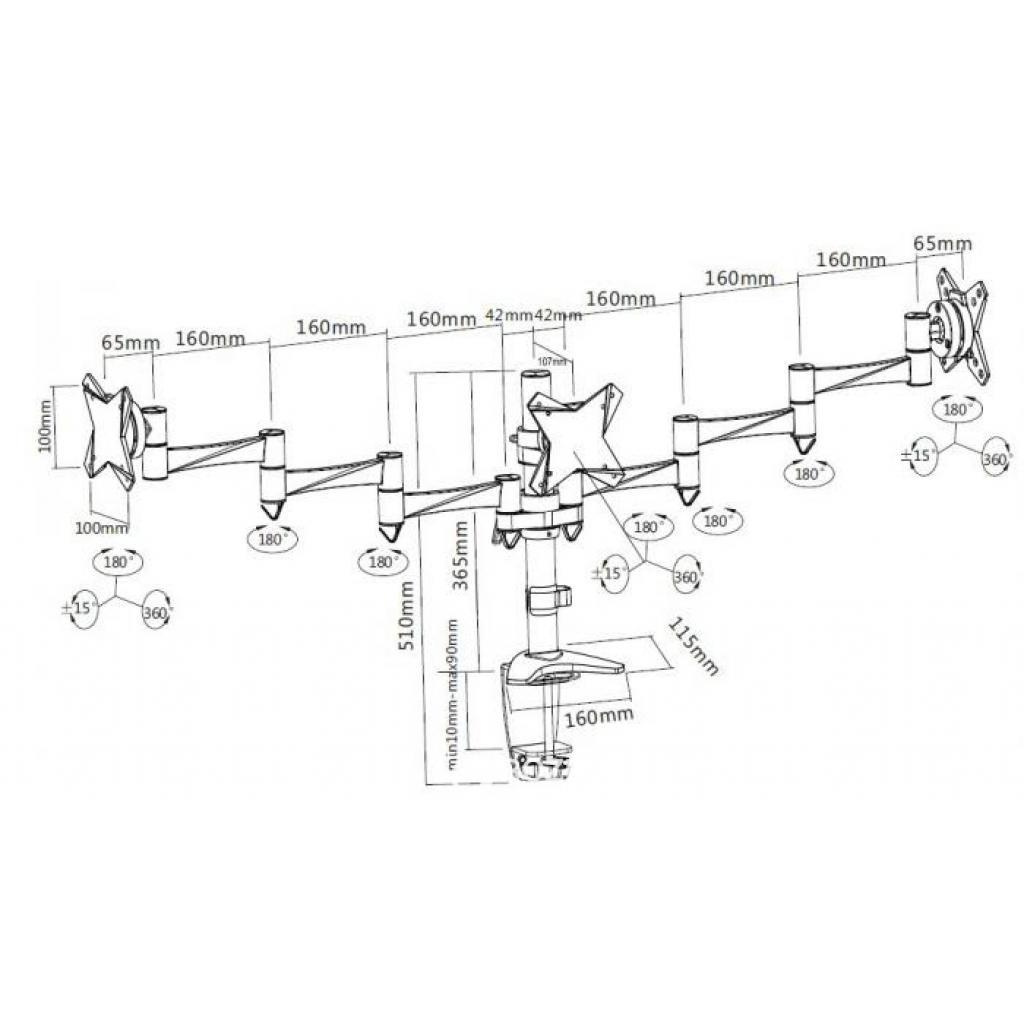 Кронштейн BRATECK LDT02-C036 изображение 2