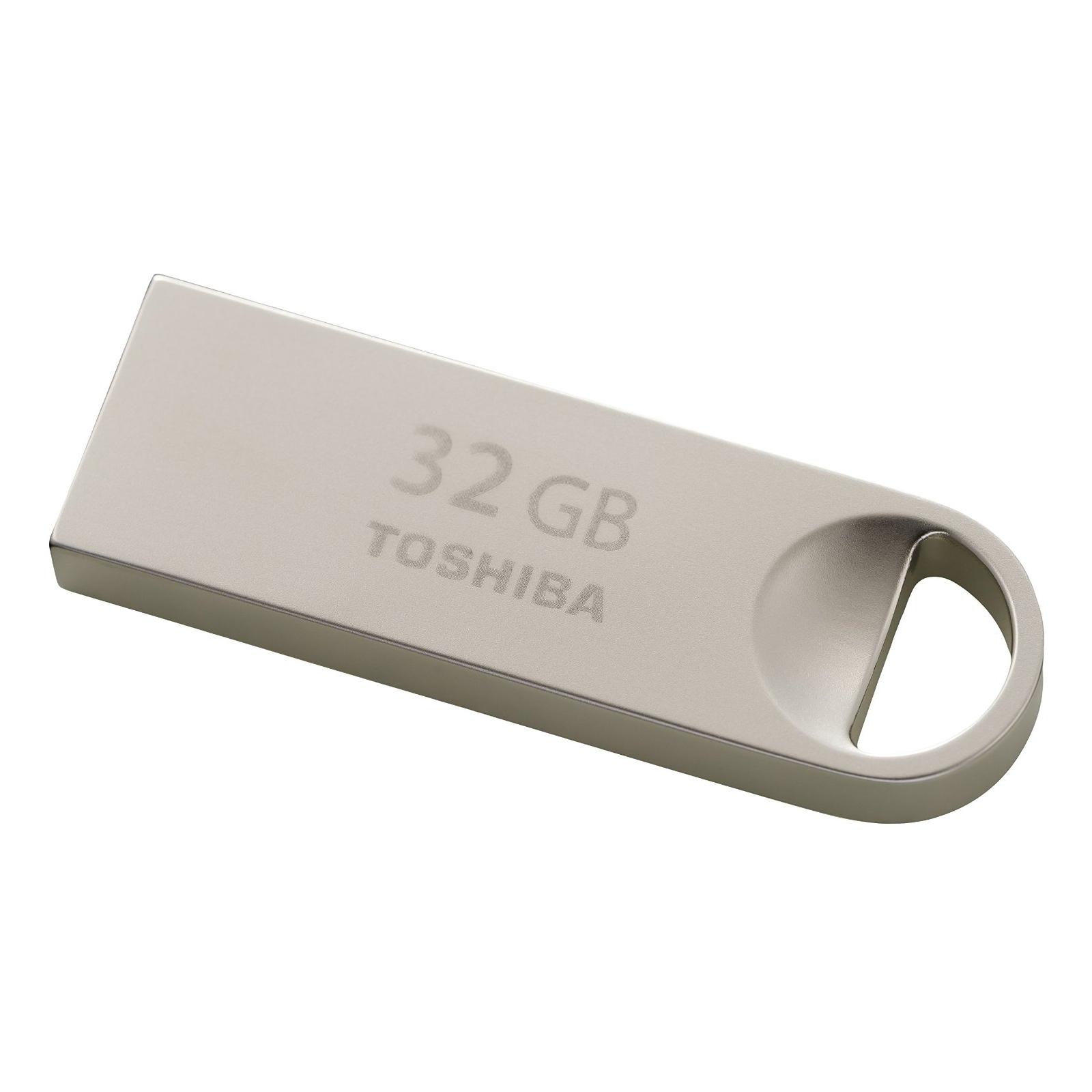 USB флеш накопитель TOSHIBA 32GB Owari Metal USB 2.0 (THN-U401S0320E4) изображение 3
