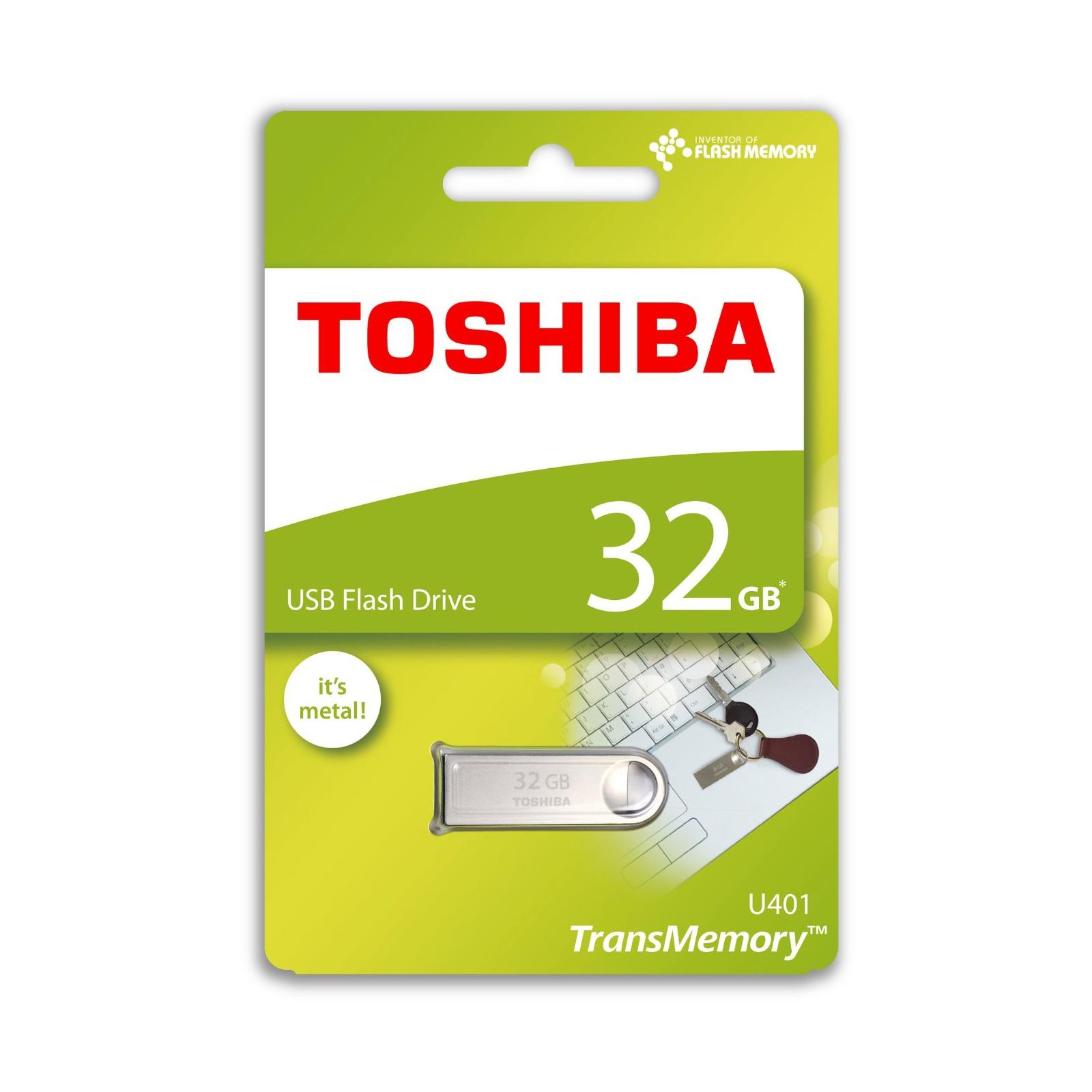 USB флеш накопитель TOSHIBA 32GB Owari Metal USB 2.0 (THN-U401S0320E4) изображение 4