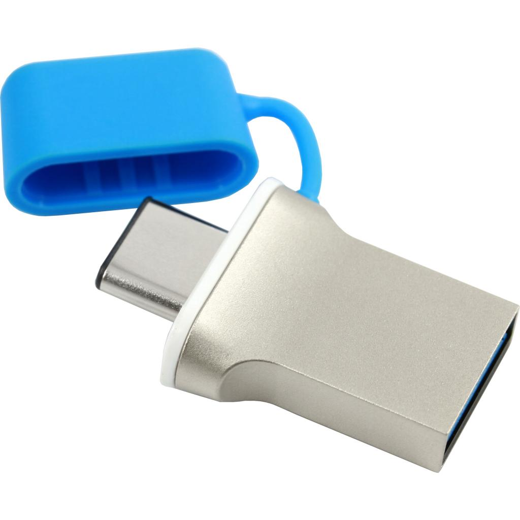 USB флеш накопитель GOODRAM 64GB DualDrive C Blue USB 3.0 (PD64GH3GRDDCBR10) изображение 3