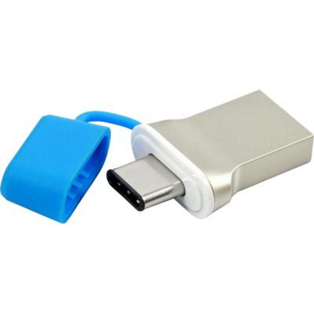 USB флеш накопитель GOODRAM 64GB DualDrive C Blue USB 3.0 (PD64GH3GRDDCBR10) изображение 4