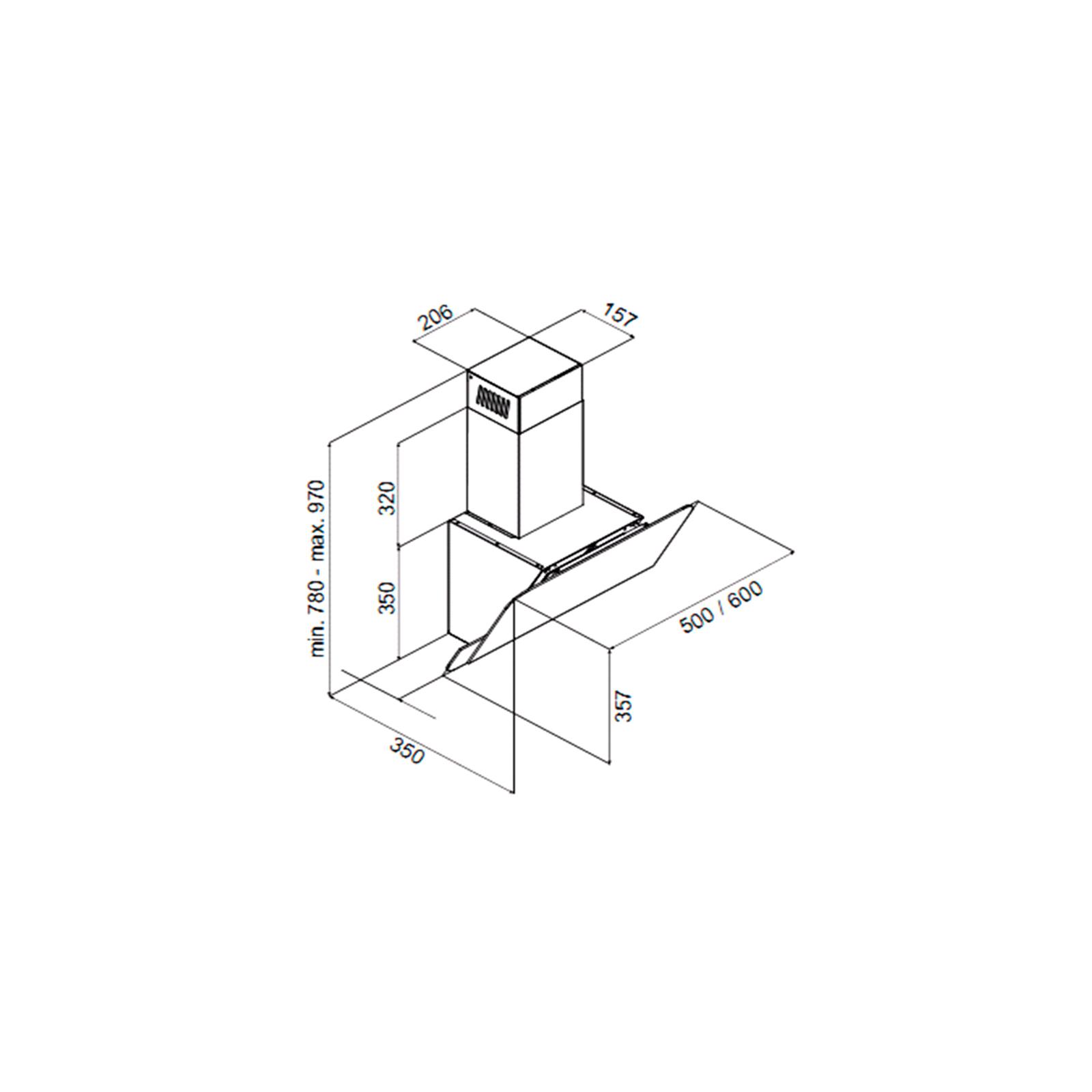 Вытяжка кухонная PERFELLI DNS 6114 BL LED изображение 7