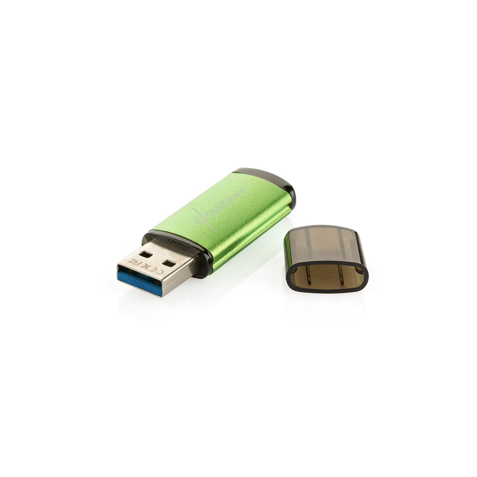 USB флеш накопитель eXceleram 128GB A3 Series Green USB 3.1 Gen 1 (EXA3U3GR128) изображение 5