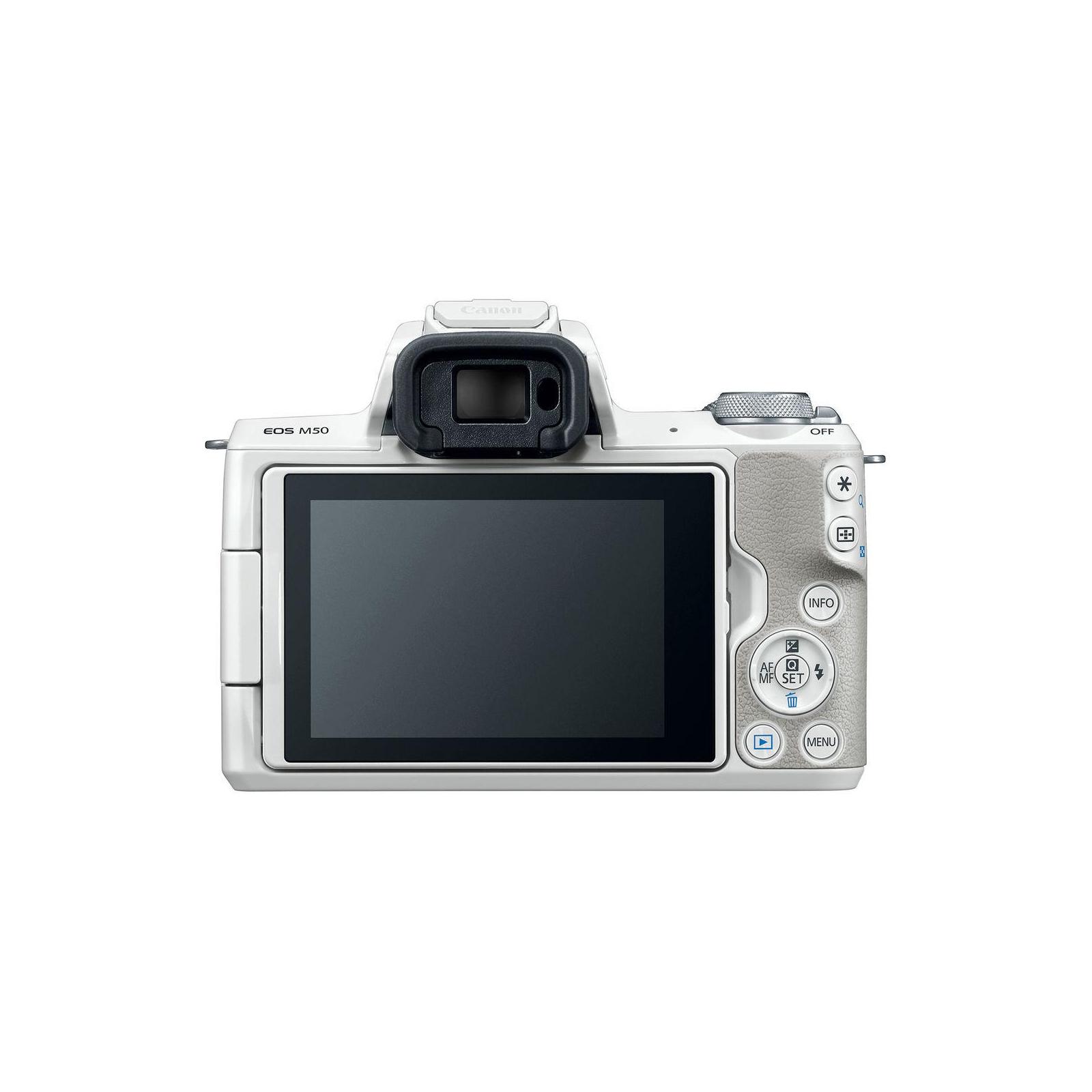Цифровой фотоаппарат Canon EOS M50 15-45 IS STM Kit White (2681C057) изображение 3