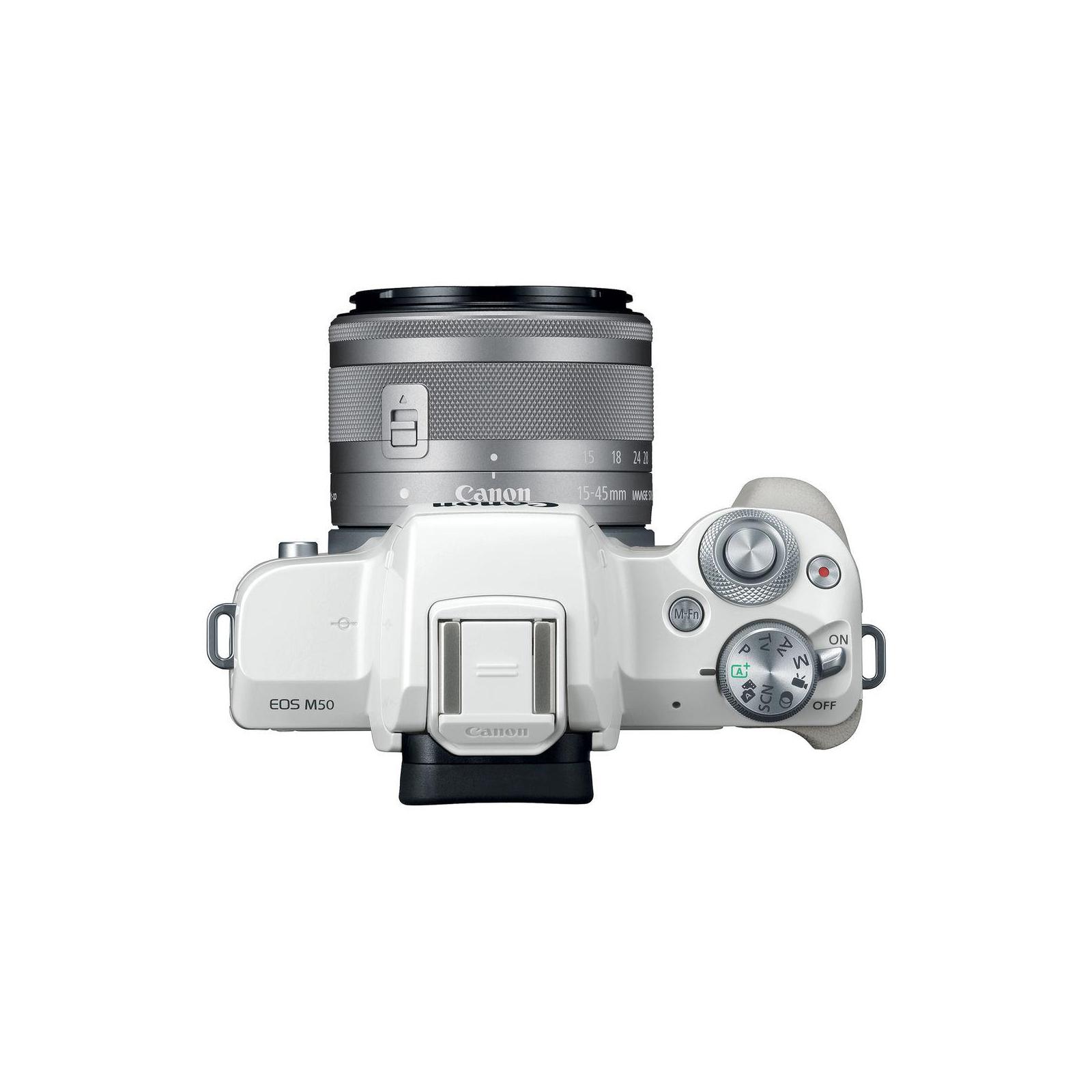 Цифровой фотоаппарат Canon EOS M50 15-45 IS STM Kit White (2681C057) изображение 4