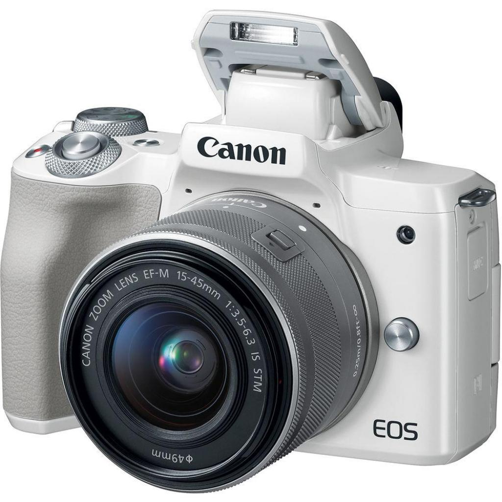 Цифровой фотоаппарат Canon EOS M50 15-45 IS STM Kit White (2681C057) изображение 5
