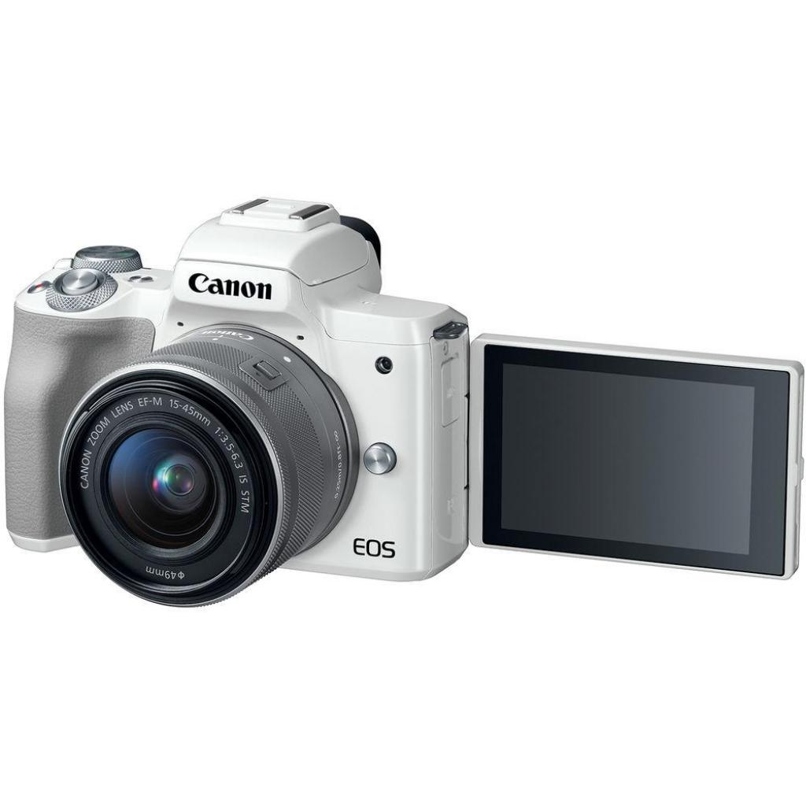 Цифровой фотоаппарат Canon EOS M50 15-45 IS STM Kit White (2681C057) изображение 6