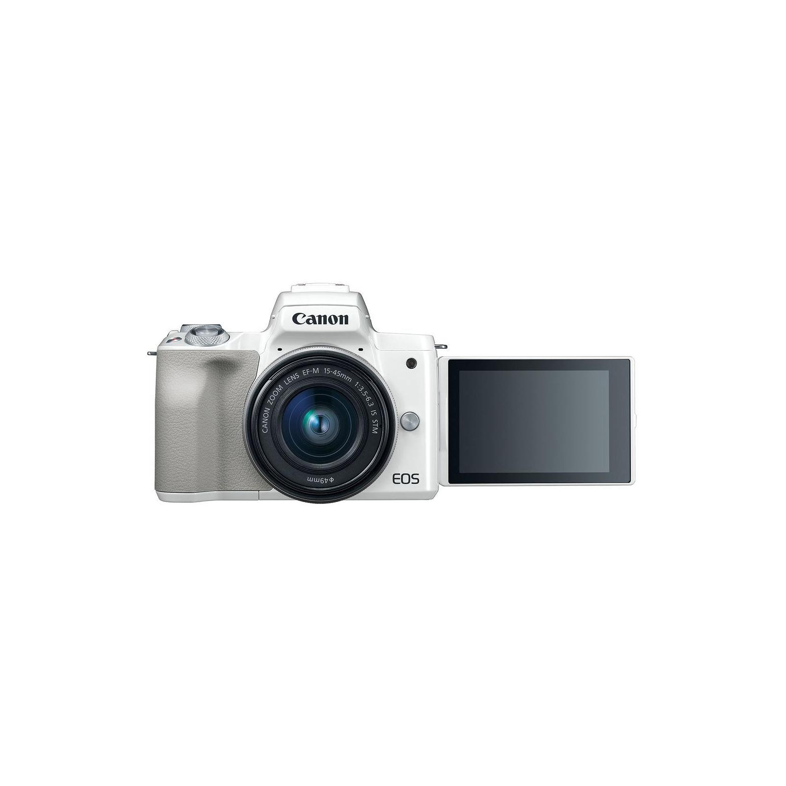 Цифровой фотоаппарат Canon EOS M50 15-45 IS STM Kit White (2681C057) изображение 7