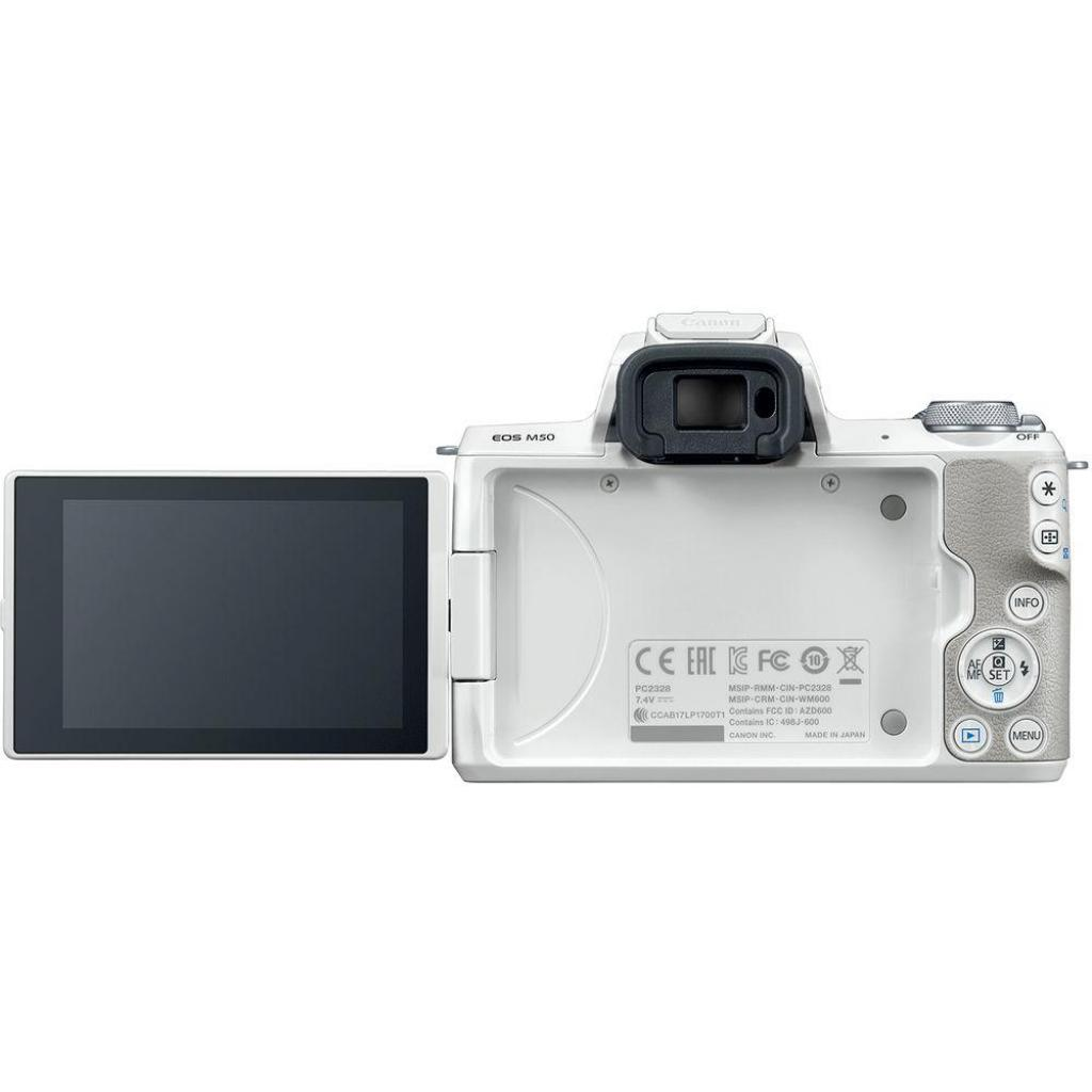 Цифровой фотоаппарат Canon EOS M50 15-45 IS STM Kit White (2681C057) изображение 8
