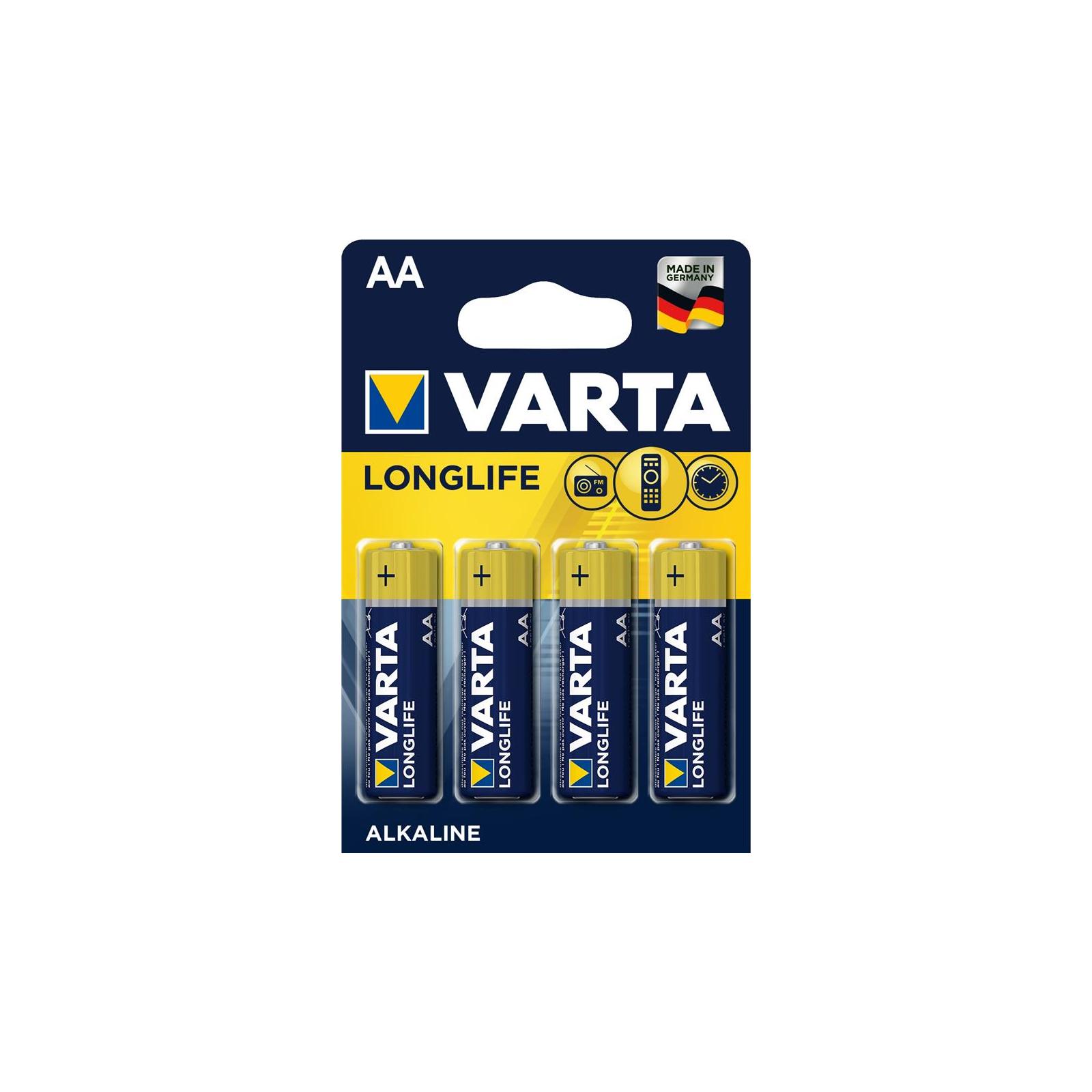 Батарейка Varta AA Longlife LR6 * 4 (04106101414)