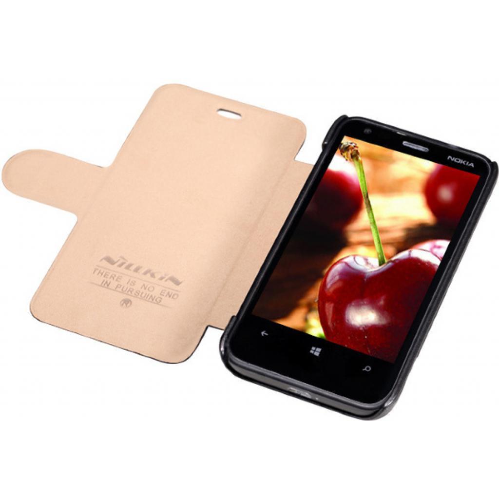 Чехол для моб. телефона NILLKIN для Nokia 620 /Fresh/ Leather/Blac (6065690) изображение 3
