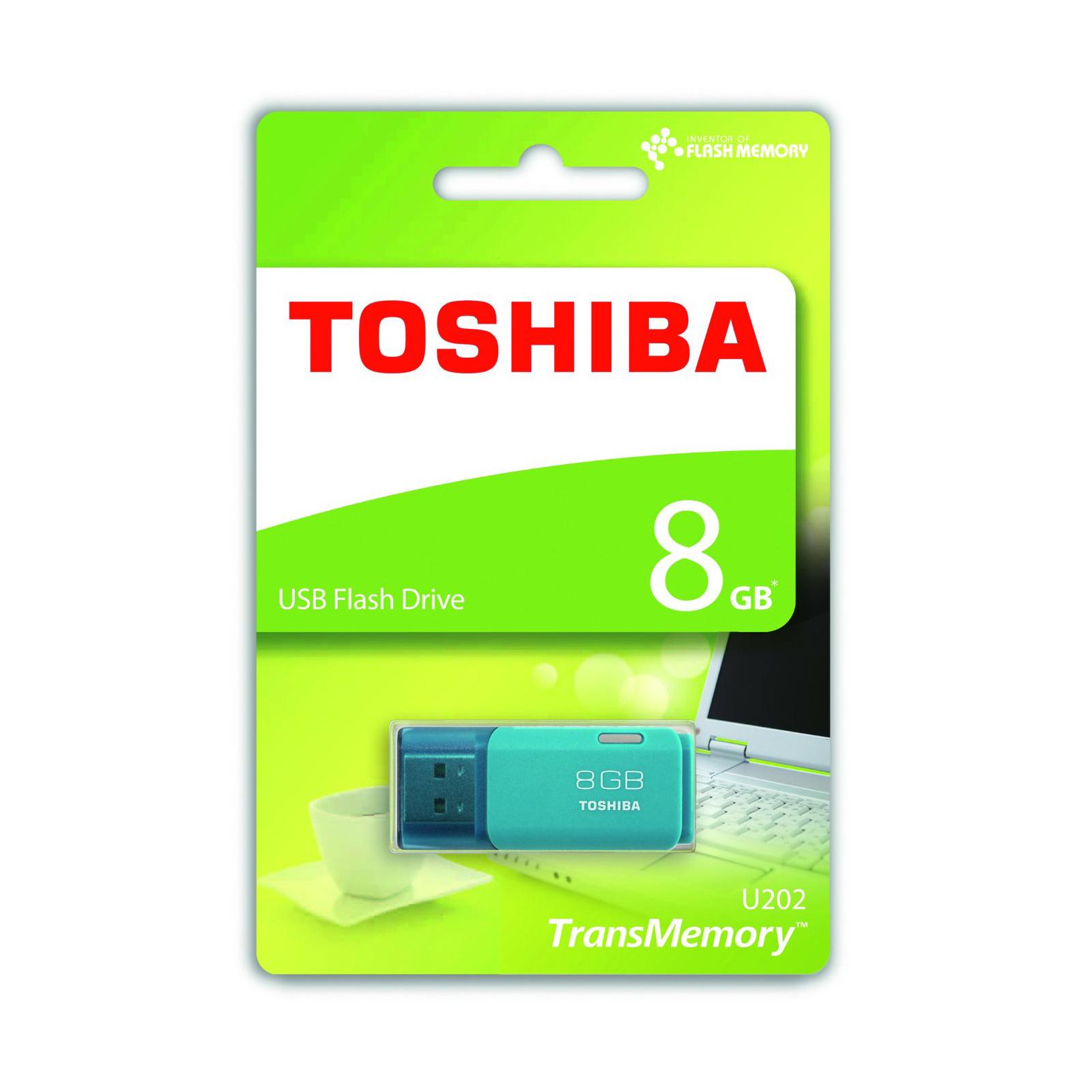 USB флеш накопитель TOSHIBA 8GB Hayabusa Aqua USB 2.0 (THN-U202L0080E4) изображение 2