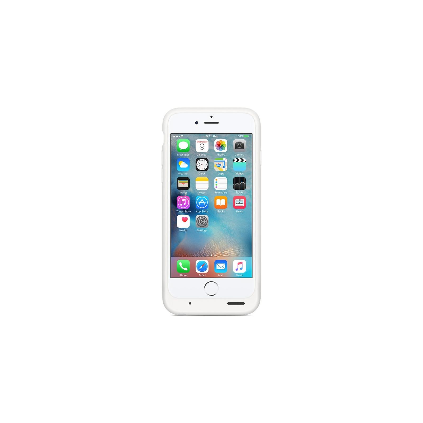 Чехол для моб. телефона Apple Smart Battery Case для iPhone 6/6s White (MGQM2ZM/A) изображение 4