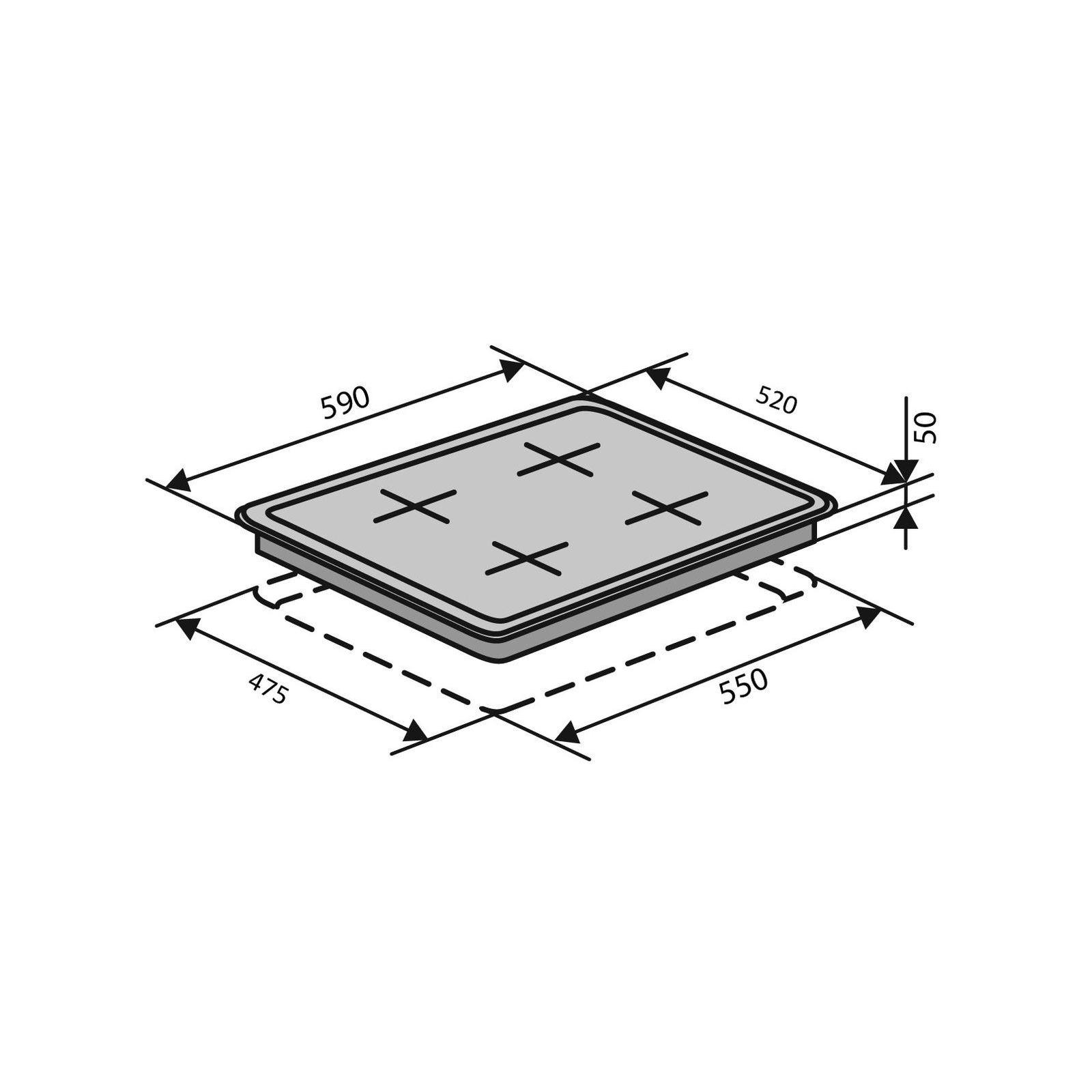 Варочная поверхность Ventolux HSF640-R3G CEST (BK) изображение 10