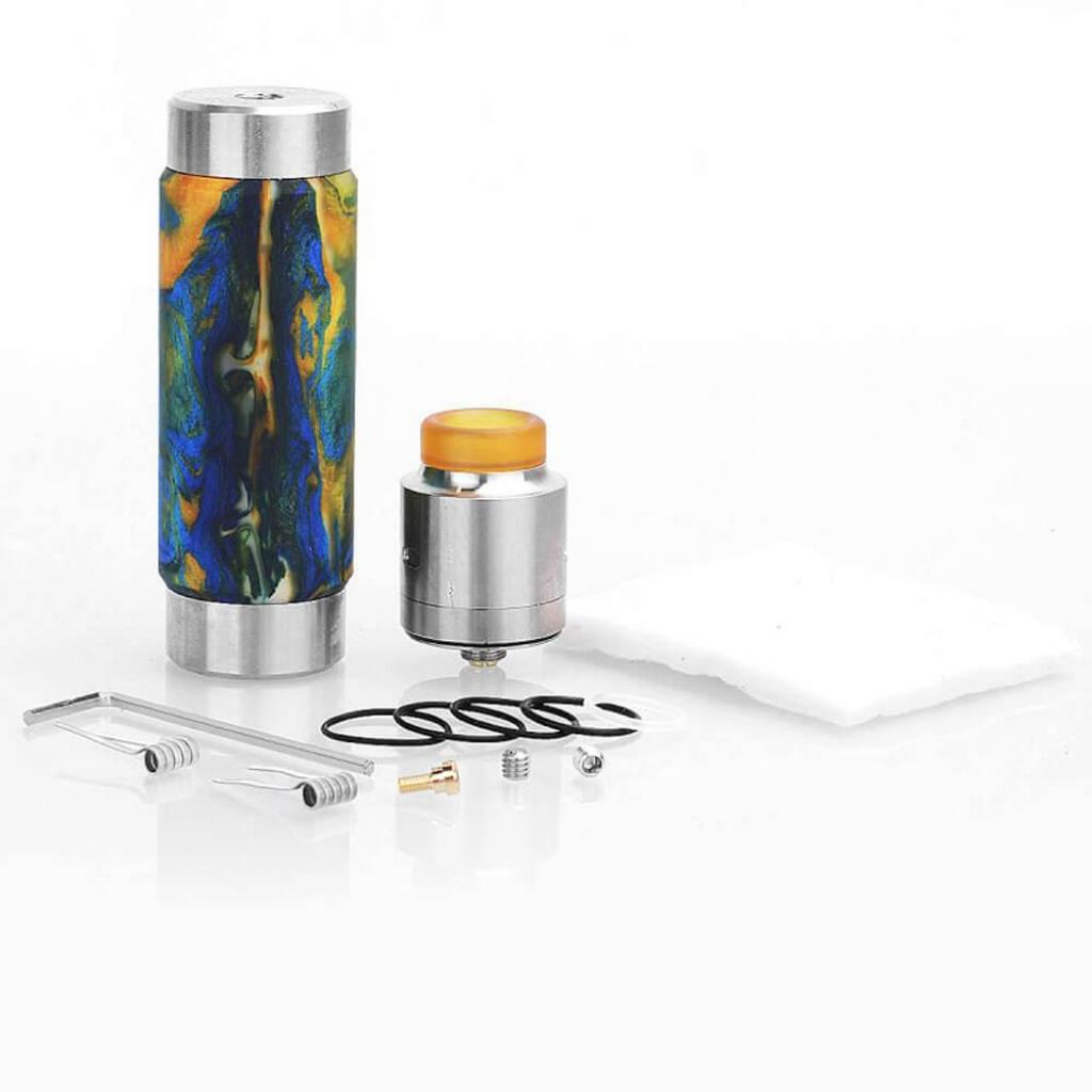 Стартовый набор Wismec Machina RDA Kit Swirled Metallic Resin (WSMCHR) изображение 6