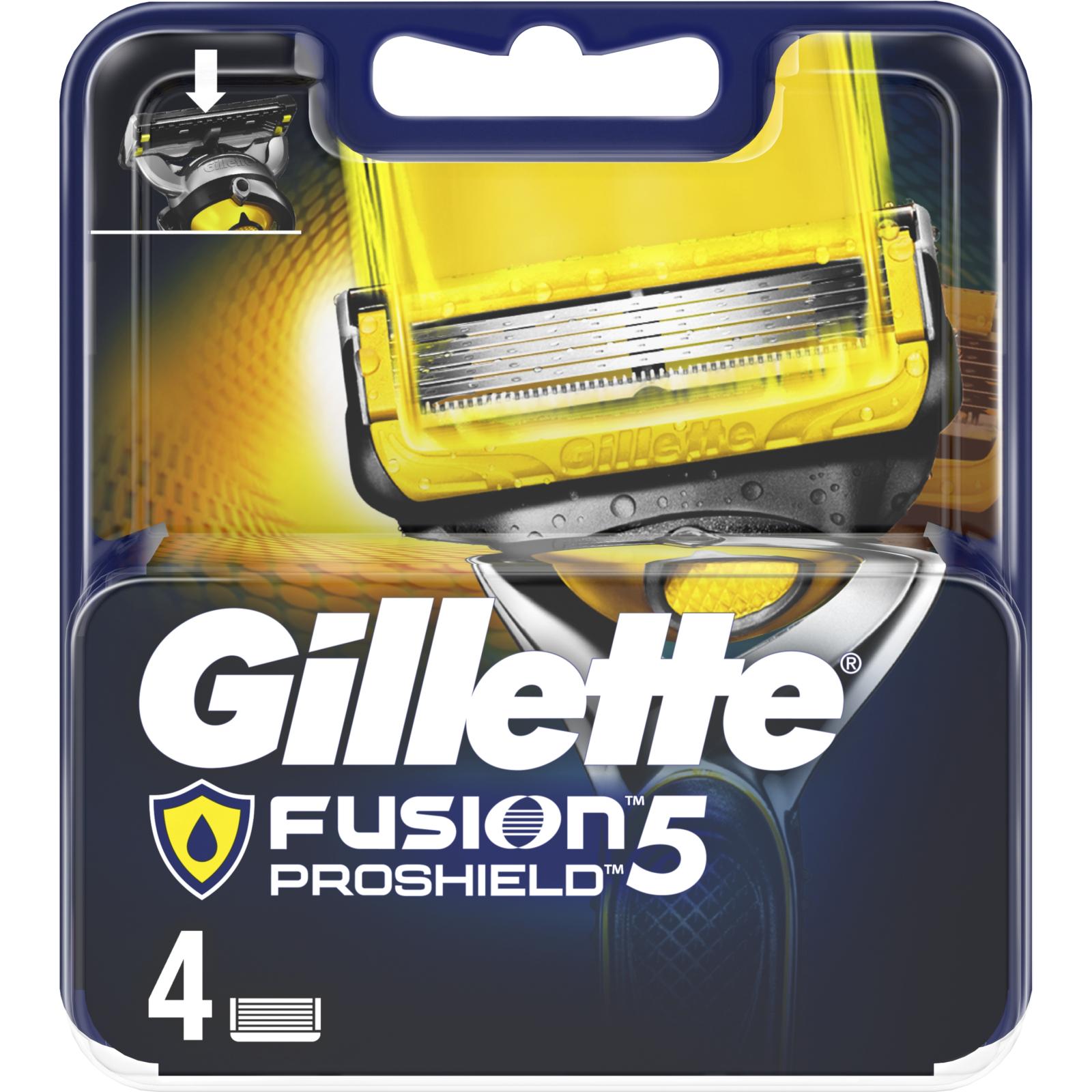 Сменные кассеты Gillette Fusion ProShield 4 шт (7702018412488) изображение 2