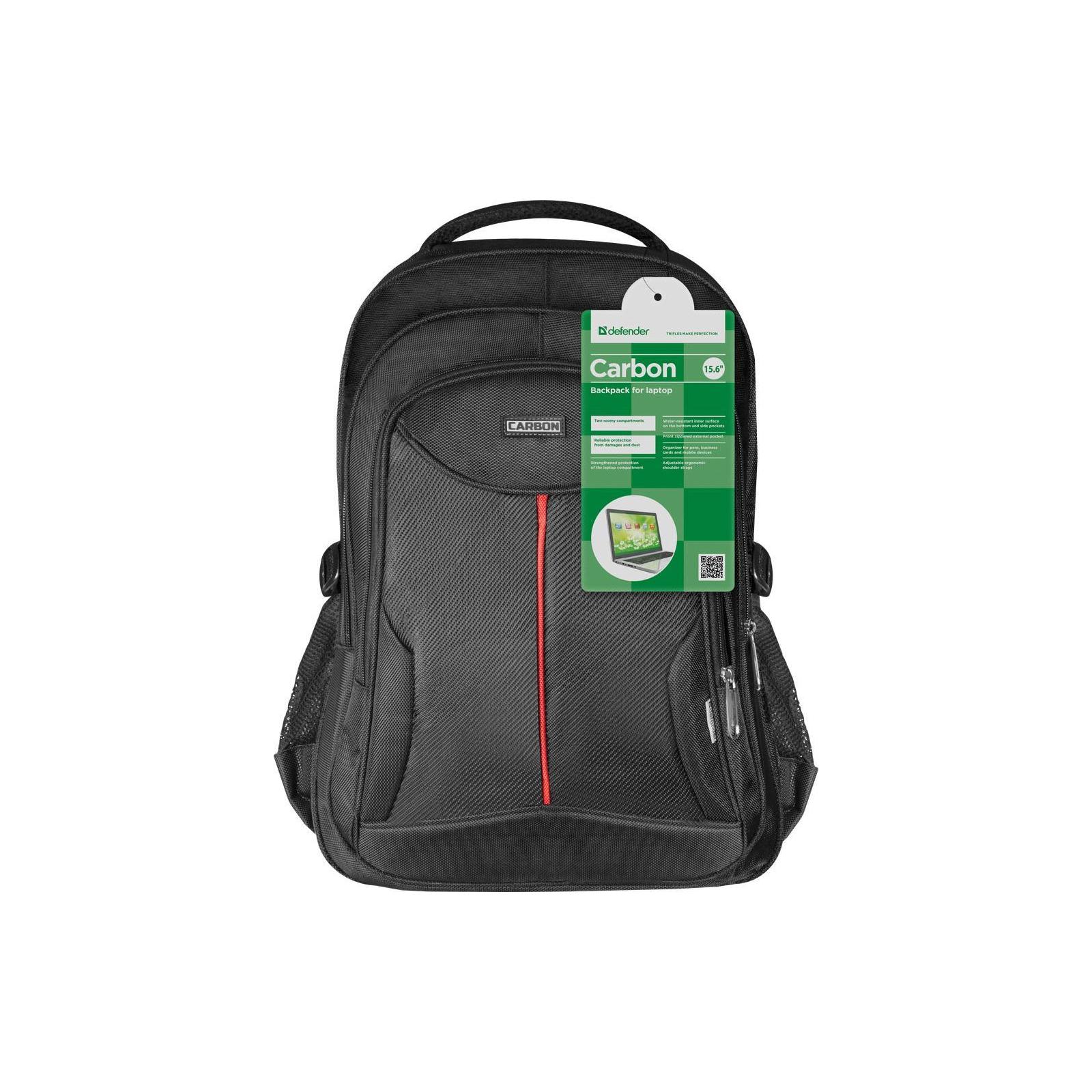 """Рюкзак для ноутбука Defender 15.6"""" Carbon black (26077) изображение 8"""