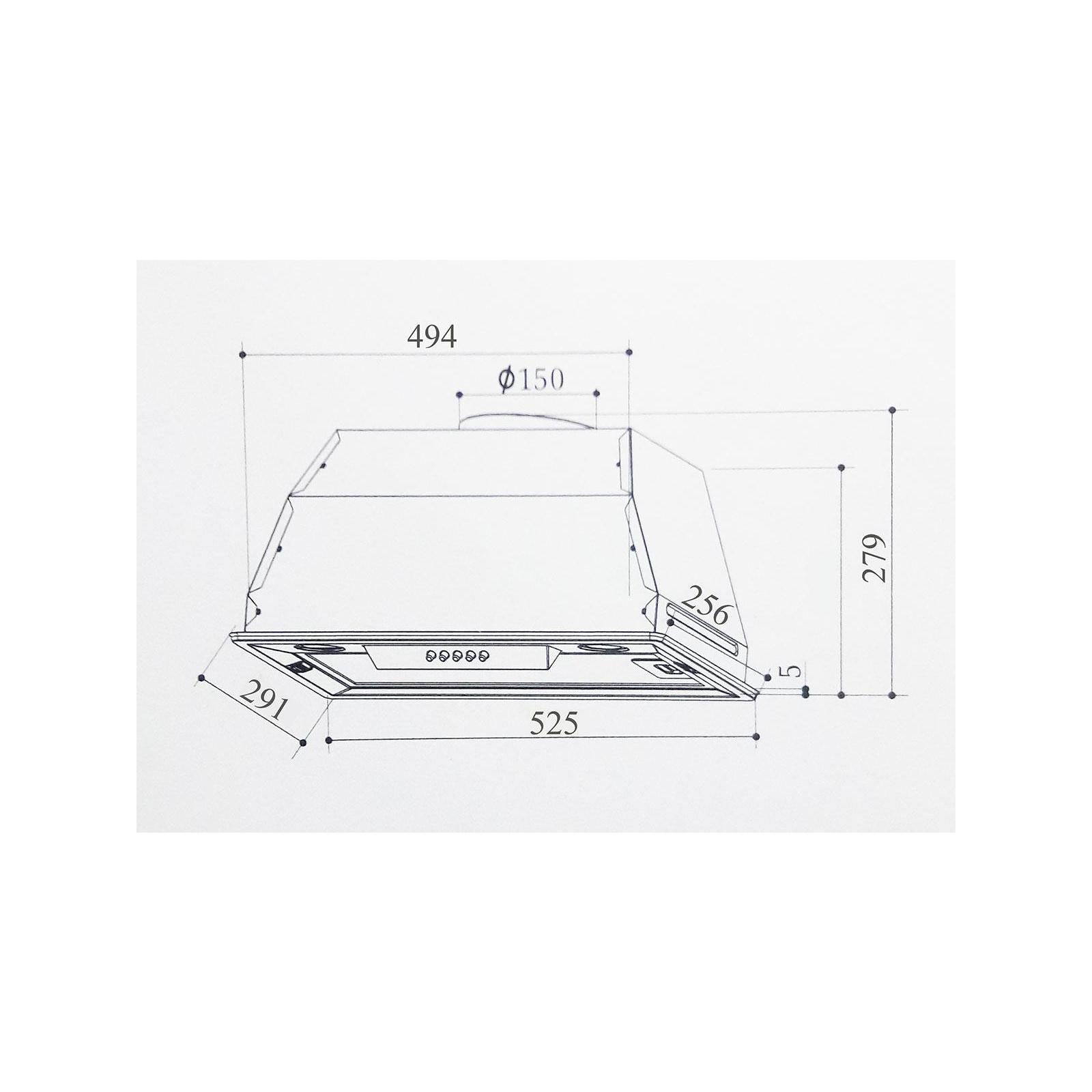 Вытяжка кухонная INTERLINE SMART BK A/60/T изображение 6
