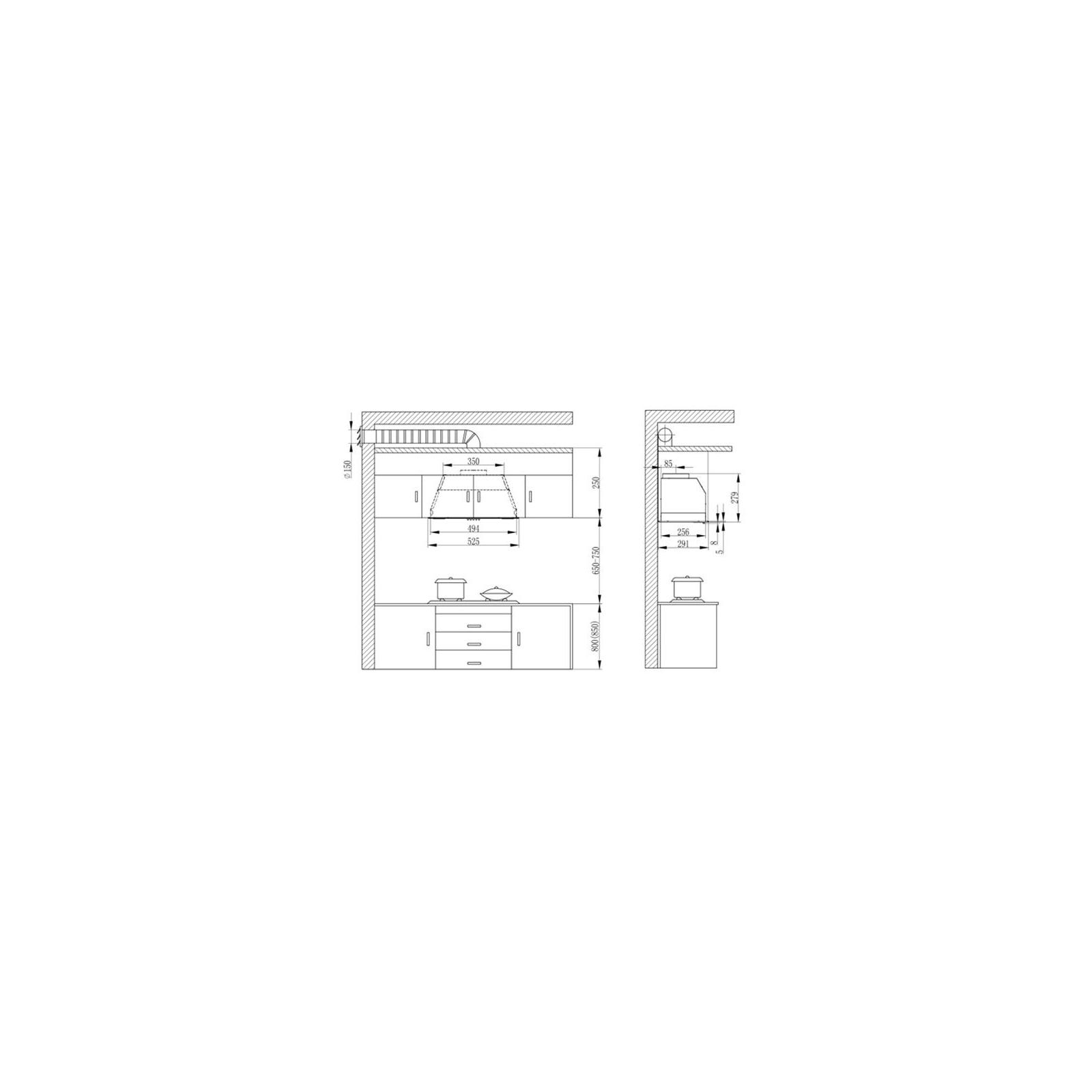 Вытяжка кухонная INTERLINE SMART BK A/60/T изображение 7