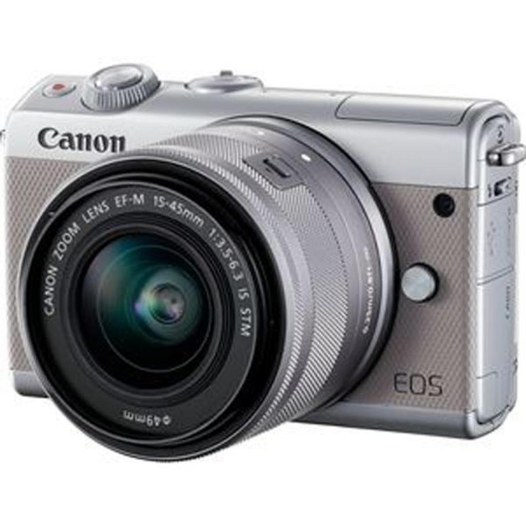 Цифровой фотоаппарат Canon EOS M100 15-45 IS STM Kit Grey (2211C044)