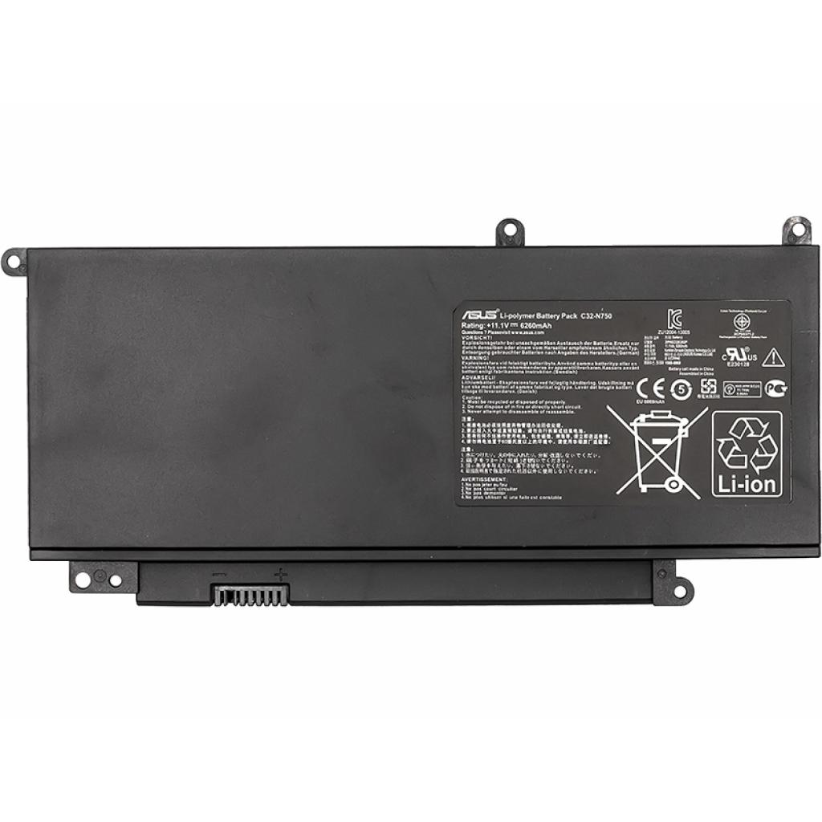 Аккумулятор для ноутбука ASUS N750 Series (C32-N750) 11.1V 69Wh PowerPlant (NB431045)