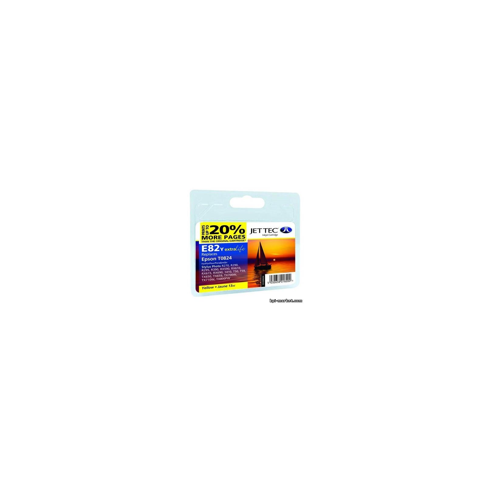 Картридж Jet Tec EPSON StPh R-270/390/RX-590 Yellow E82Y (110E008204)