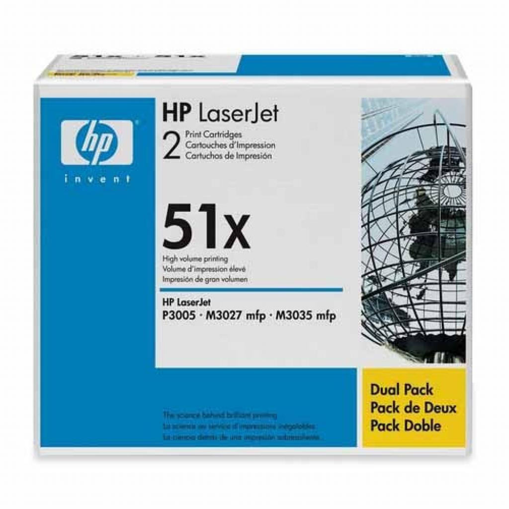 Картридж HP LJ P3005/ M3027/ M3035 DUAL PACK (Q7551XD)