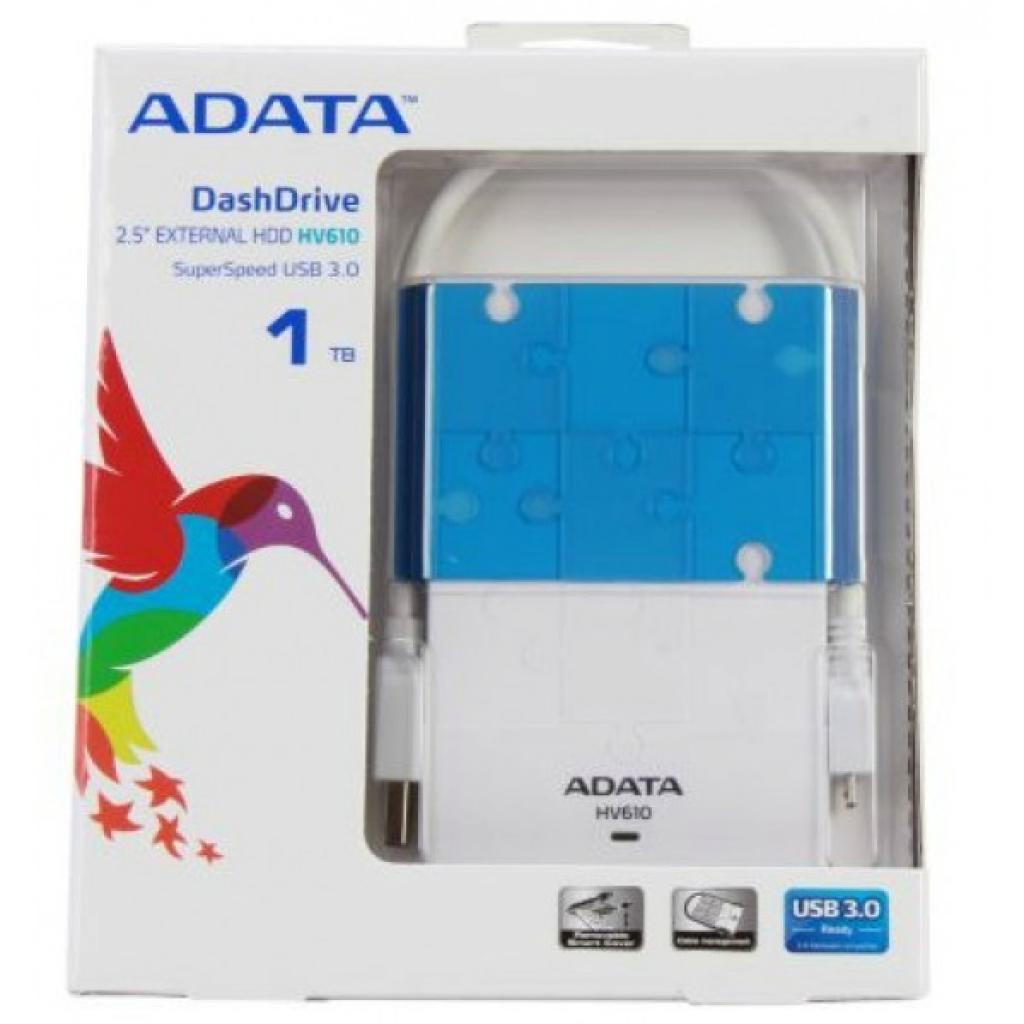 """Внешний жесткий диск 2.5"""" 1TB ADATA (AHV610-1TU3-CWHBL) изображение 3"""