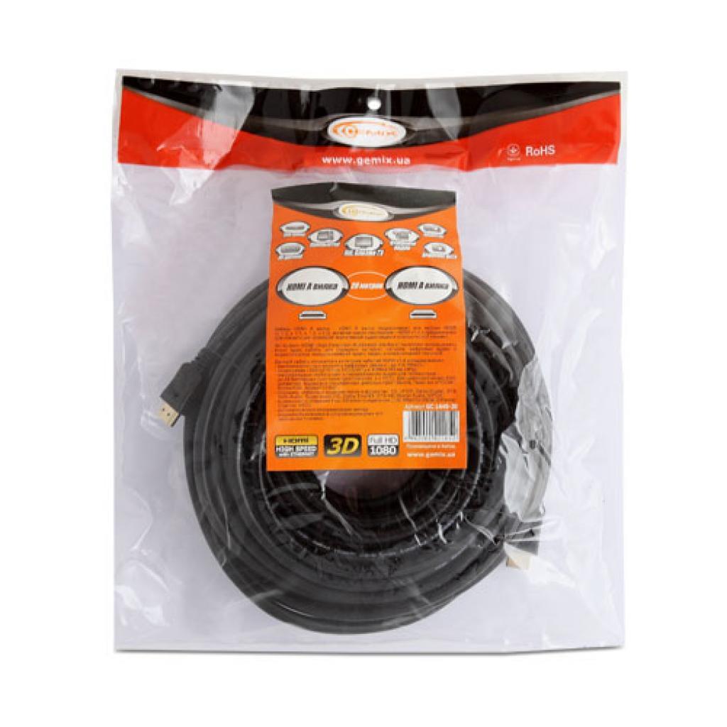 Кабель мультимедийный HDMI to HDMI 7.0m GEMIX (Art.GC 1445-7) изображение 3