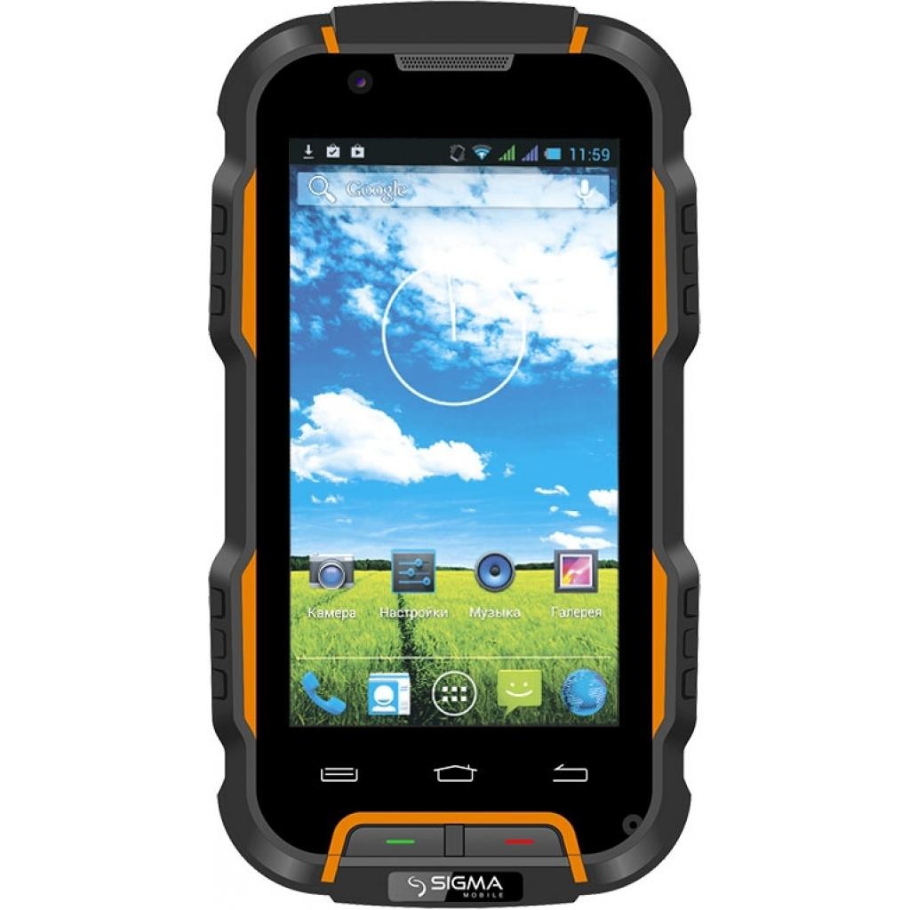 Мобильный телефон Sigma X-treme PQ22A Dual Sim Black Orange (6907798624682)