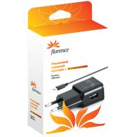 Зарядное устройство Florence USB, 2A + cable micro USB (TC20-MU)