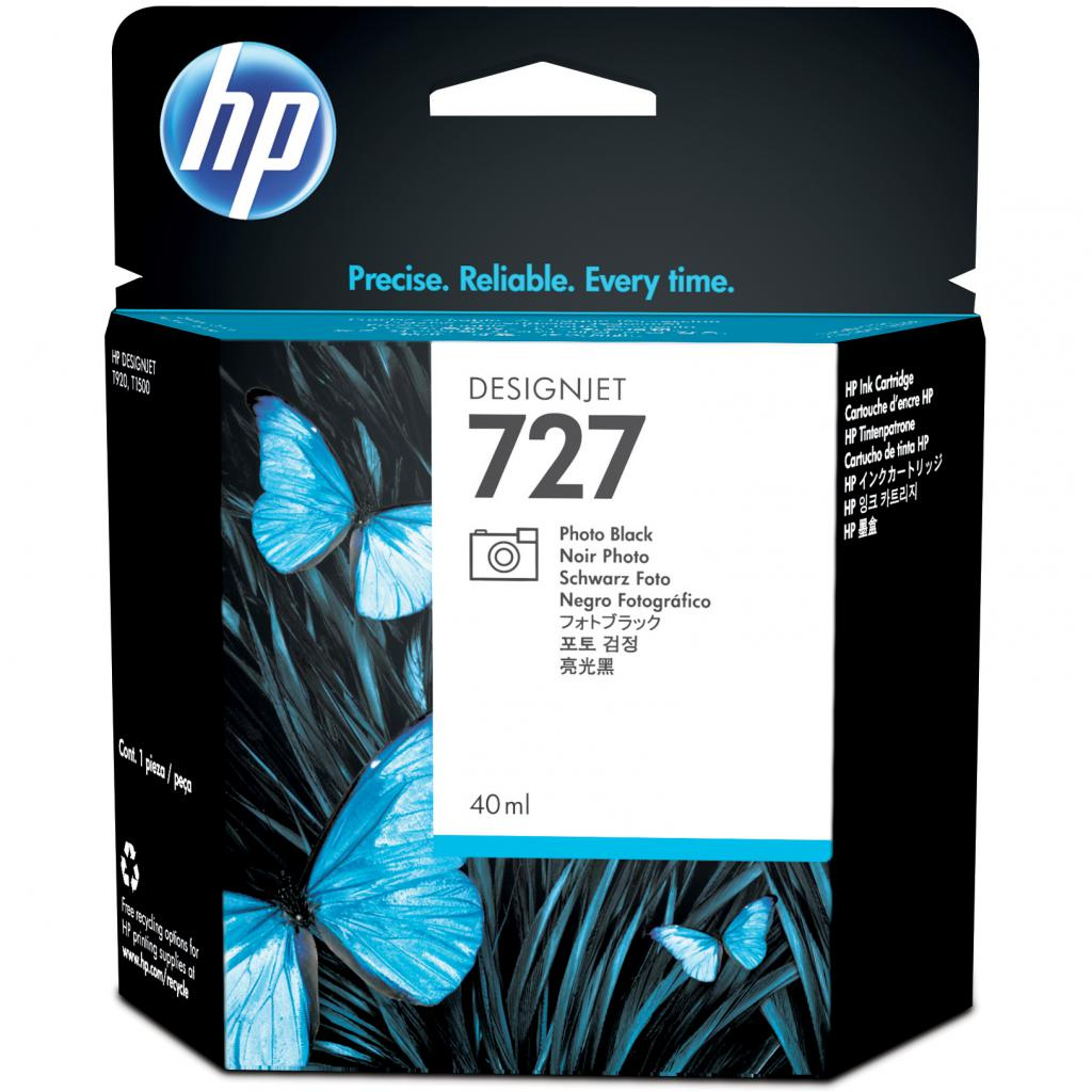 Картридж HP DJ No.727Photo Black DesignJet 40 ml (B3P17A)