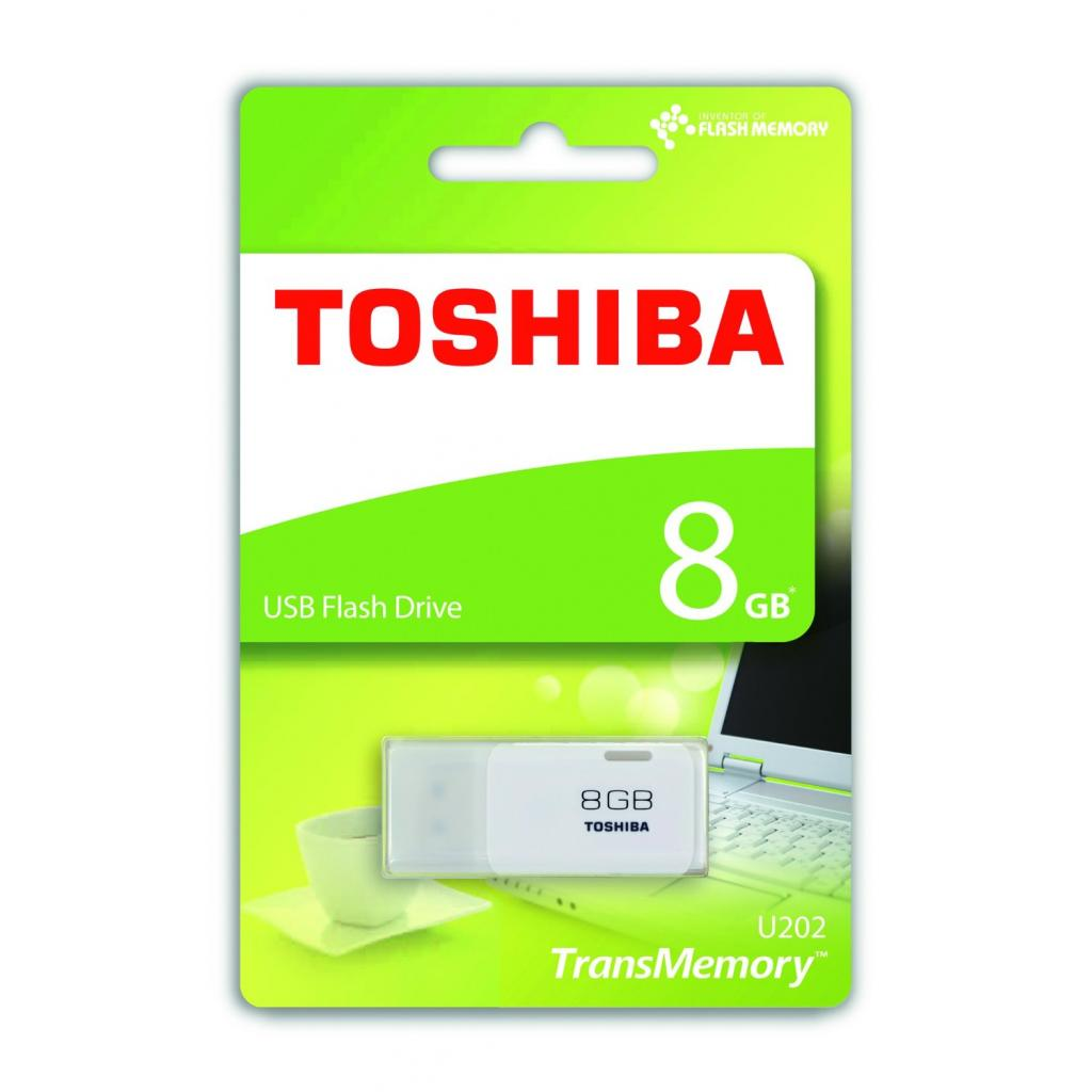 USB флеш накопитель Toshiba 8GB Hayabusa White USB 2.0 (THN-U202W0080E4) изображение 2