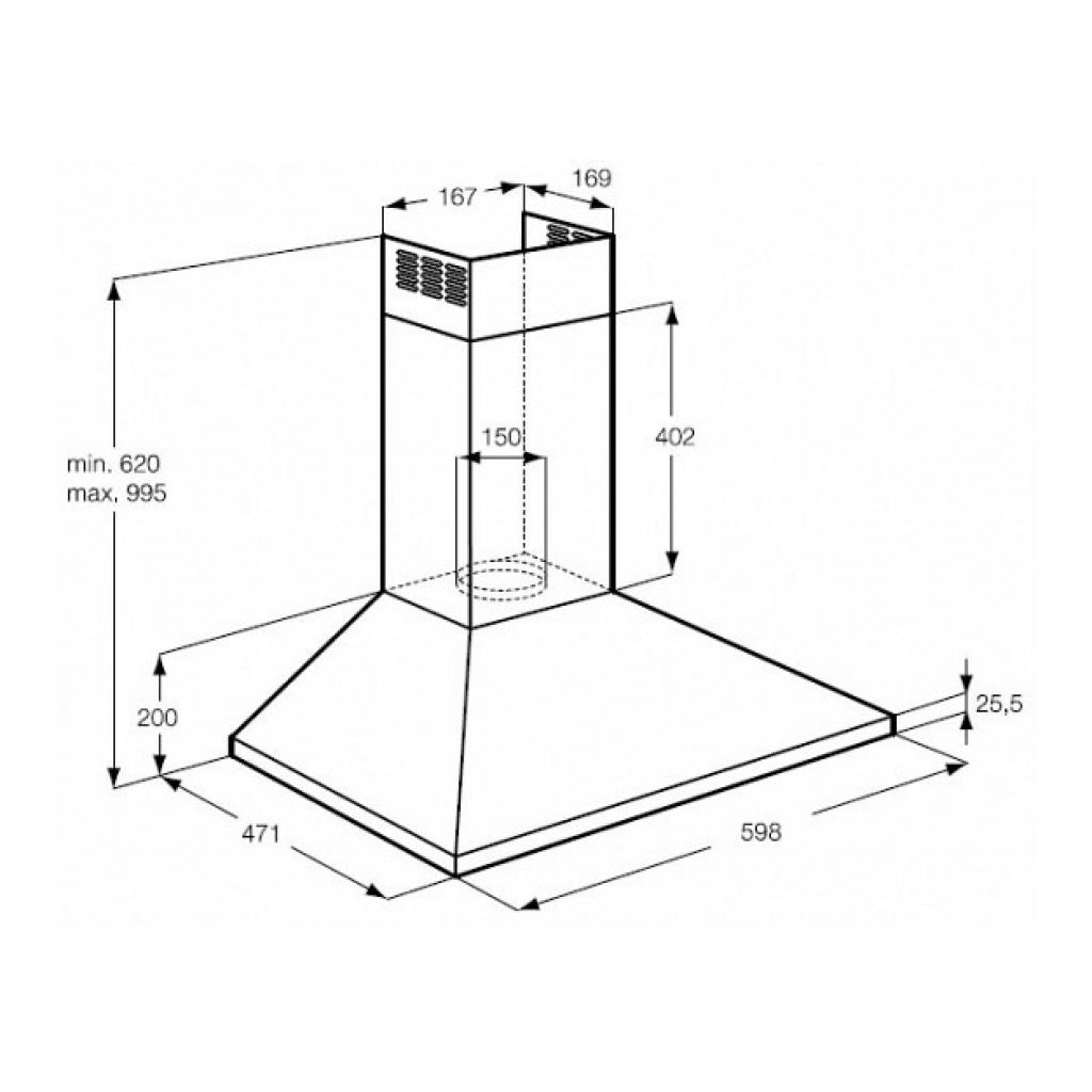 Вытяжка кухонная Zanussi ZHC 6131 X (ZHC6131X) изображение 2