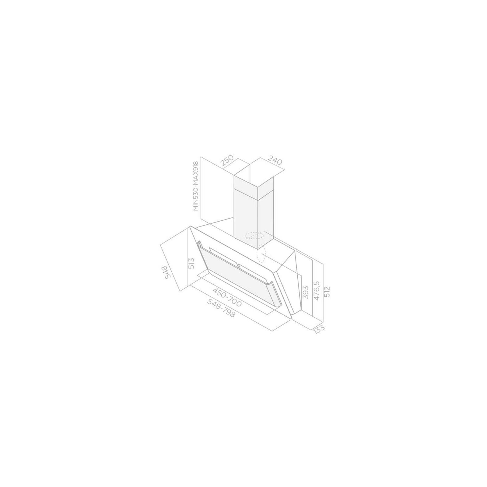 Вытяжка кухонная Elica BELT LUX WH/A/55 изображение 2