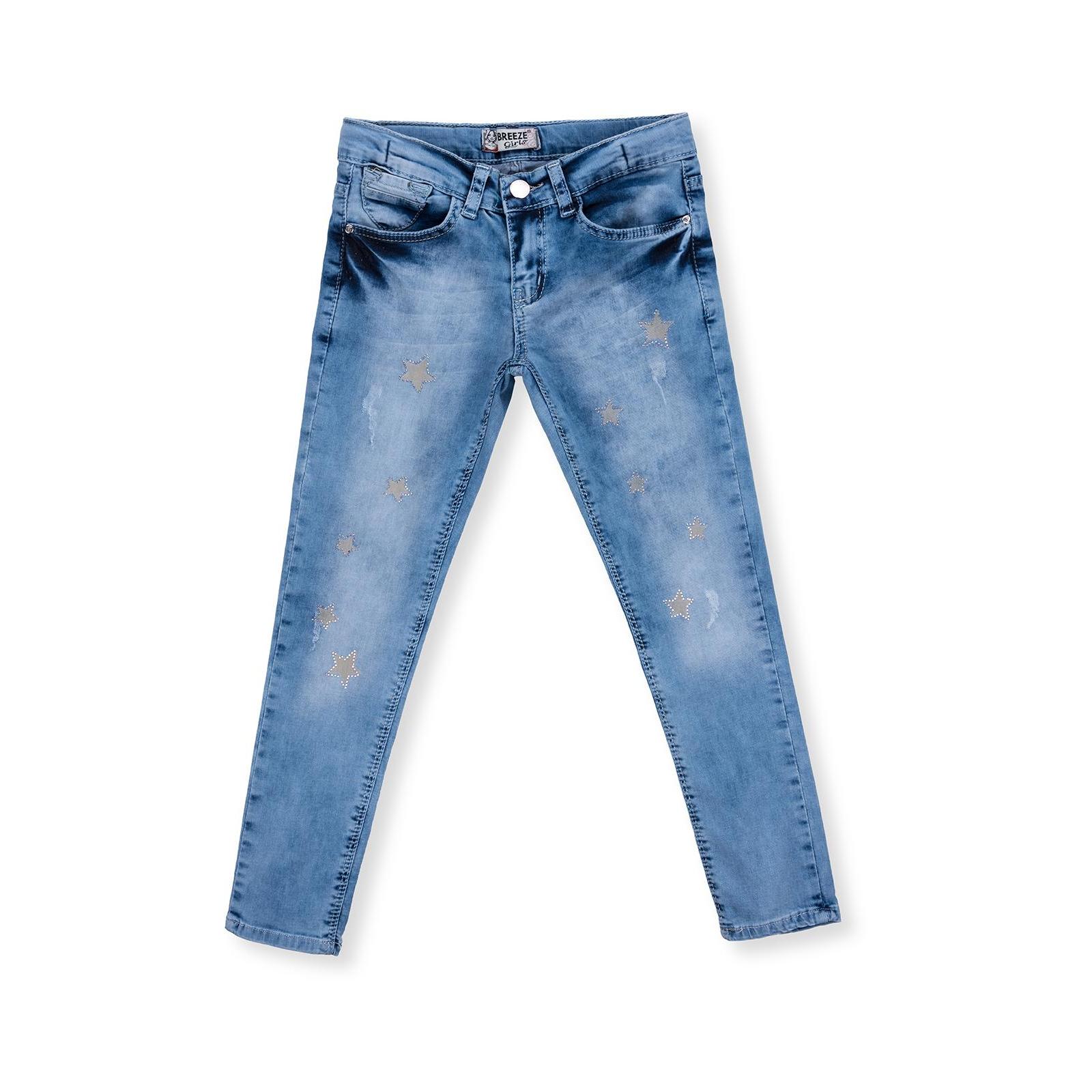 Джинсы Breeze со звездочками (20109-116G-blue)