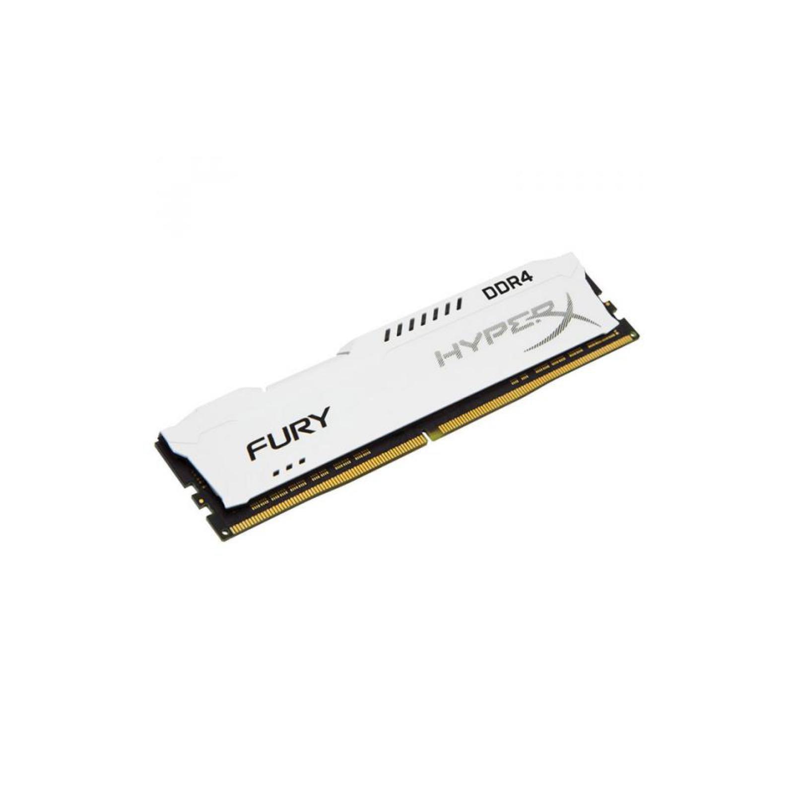 Модуль памяти для компьютера DDR4 8GB 3200 MHz HyperX FURY White HyperX (Kingston Fury) (HX432C18FW2/8) изображение 2