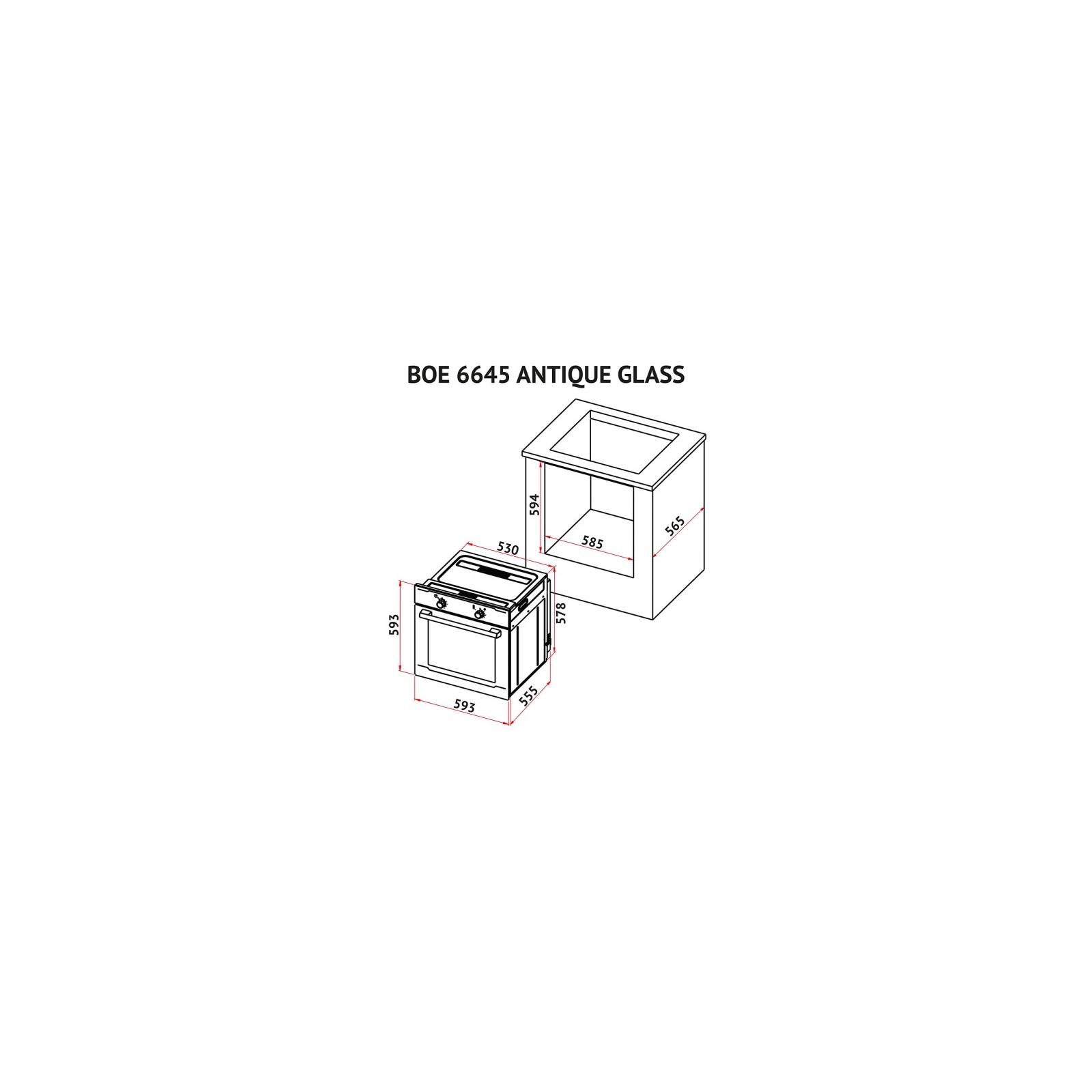 Духовой шкаф PERFELLI BOE 6645 BL ANTIQUE GLASS изображение 12