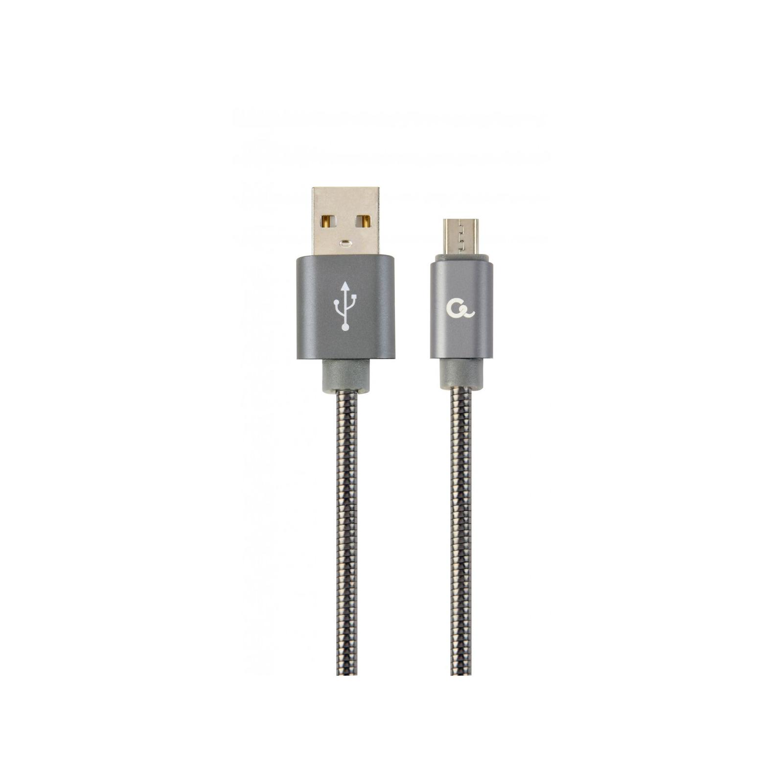 Дата кабель USB 2.0 AM to Micro 5P 2.0m Cablexpert (CC-USB2S-AMmBM-2M-BG)