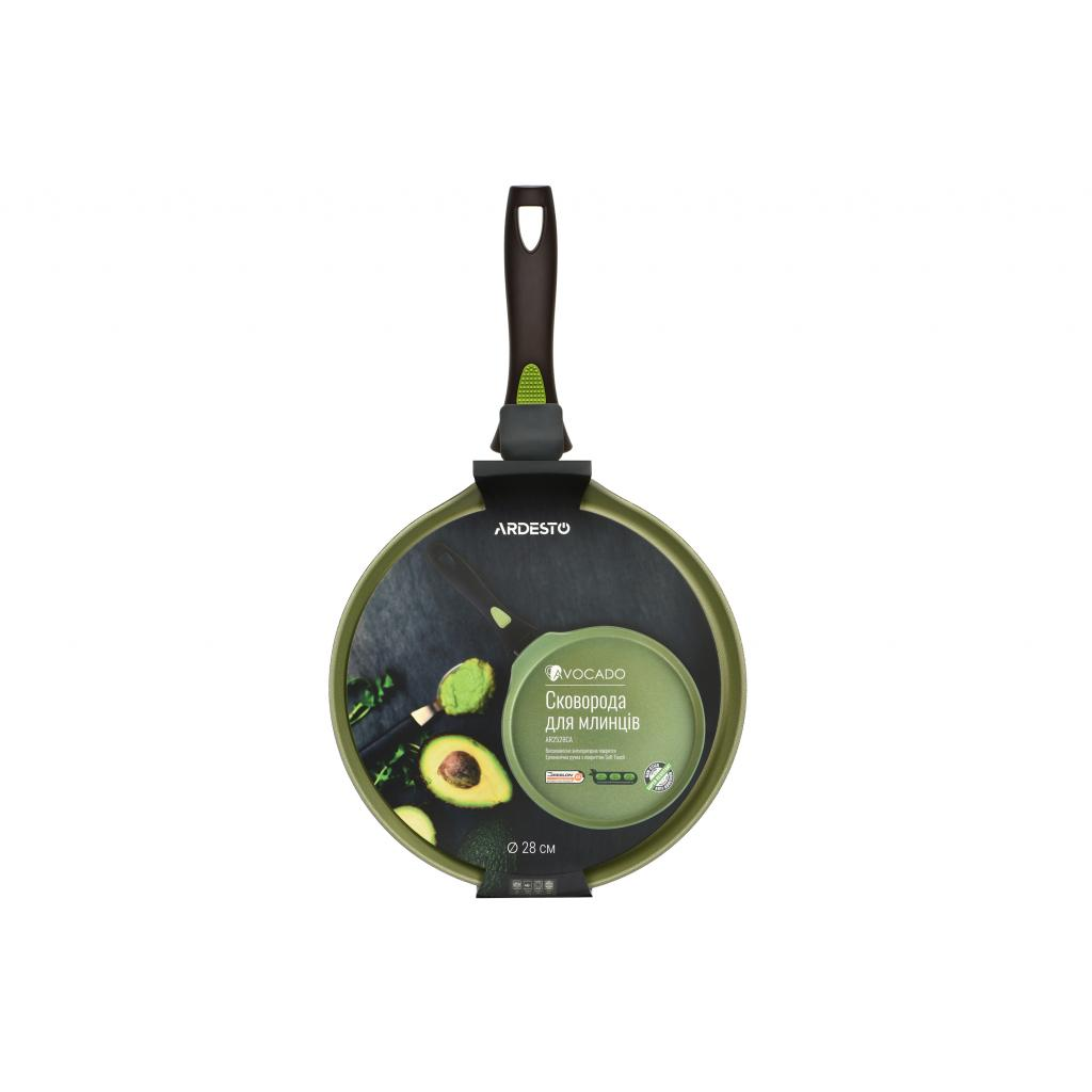 Сковорода Ardesto Avocado для блинов 28 см (AR2528CA) изображение 4