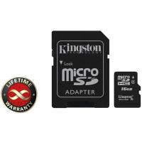 Карта памяти Kingston 16Gb microSDHC class 4 (SDC4/16GB)