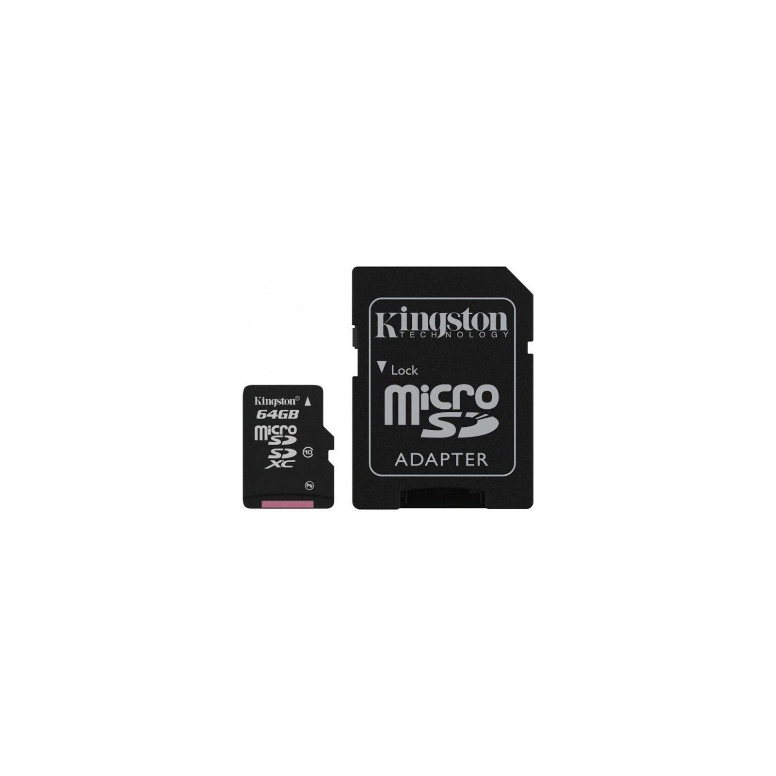 Карта памяти Kingston 64Gb microSDXC class 10 (SDCX10/64GB)