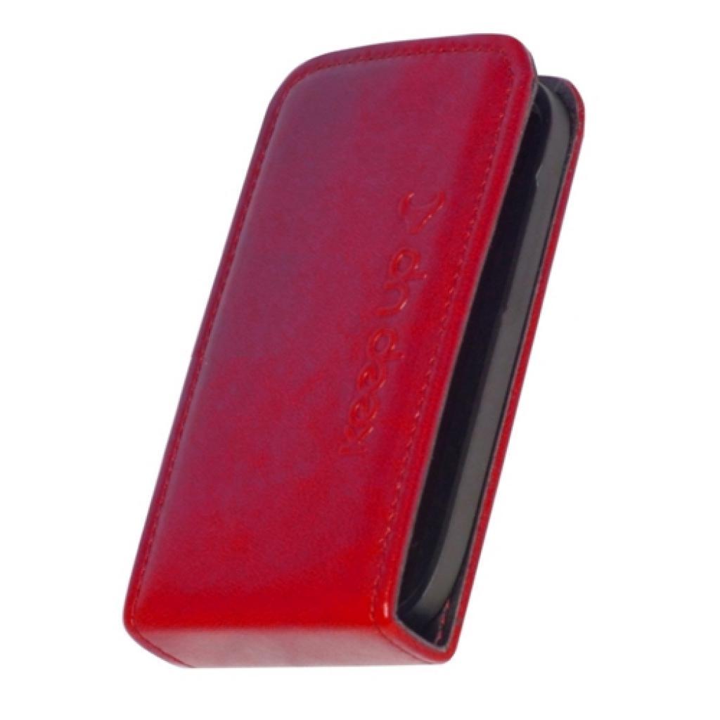 Чехол для моб. телефона KeepUp для Samsung i8160 Galaxy Ace II Red/FLIP (00-00010153) изображение 2