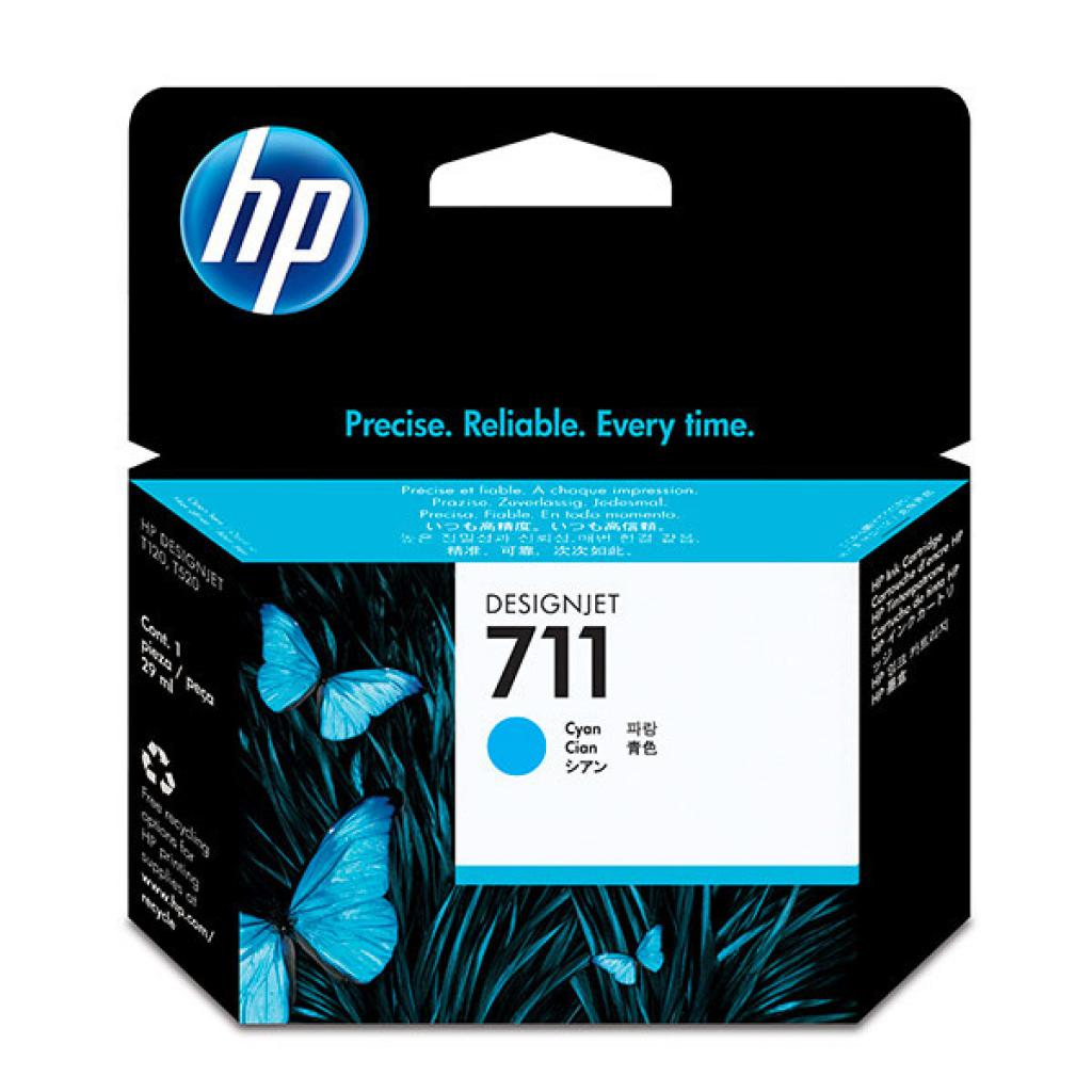Картридж HP DJ No.711 3-Pack DesignJet 120/520 Cyan (CZ134A)