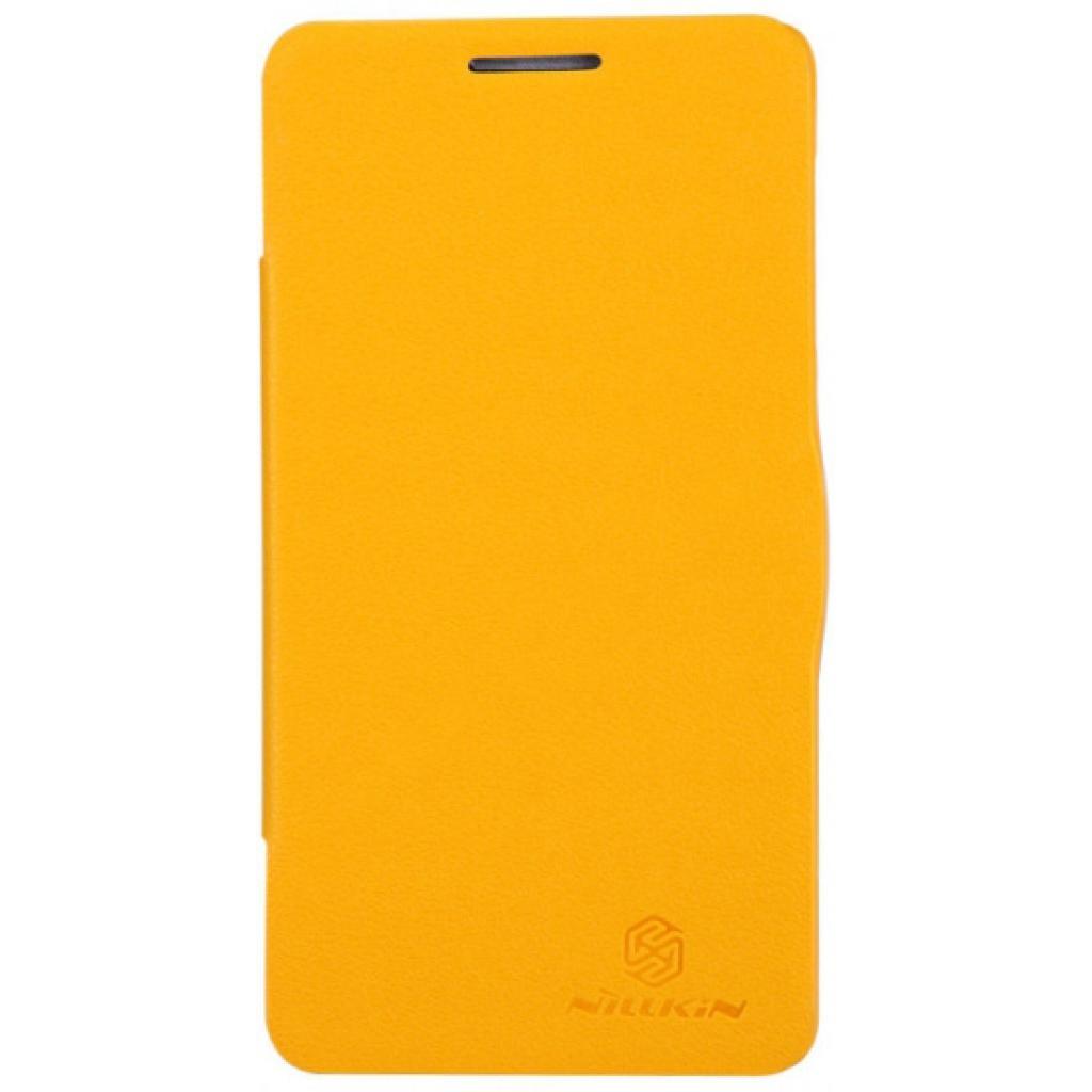 Чехол для моб. телефона NILLKIN для Lenovo P780 /Fresh/ Leather/Yellow (6100781)
