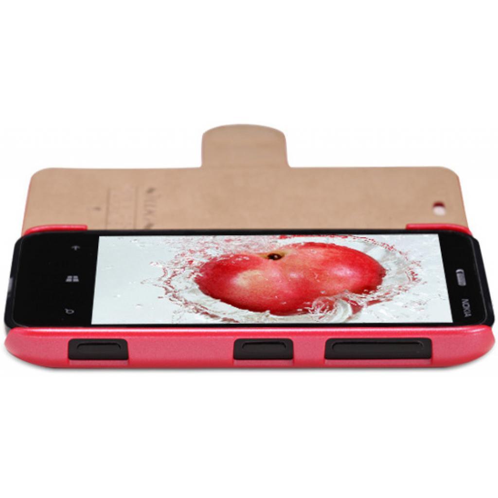 Чехол для моб. телефона NILLKIN для Nokia 620 /Fresh/ Leather/Red (6065692) изображение 3