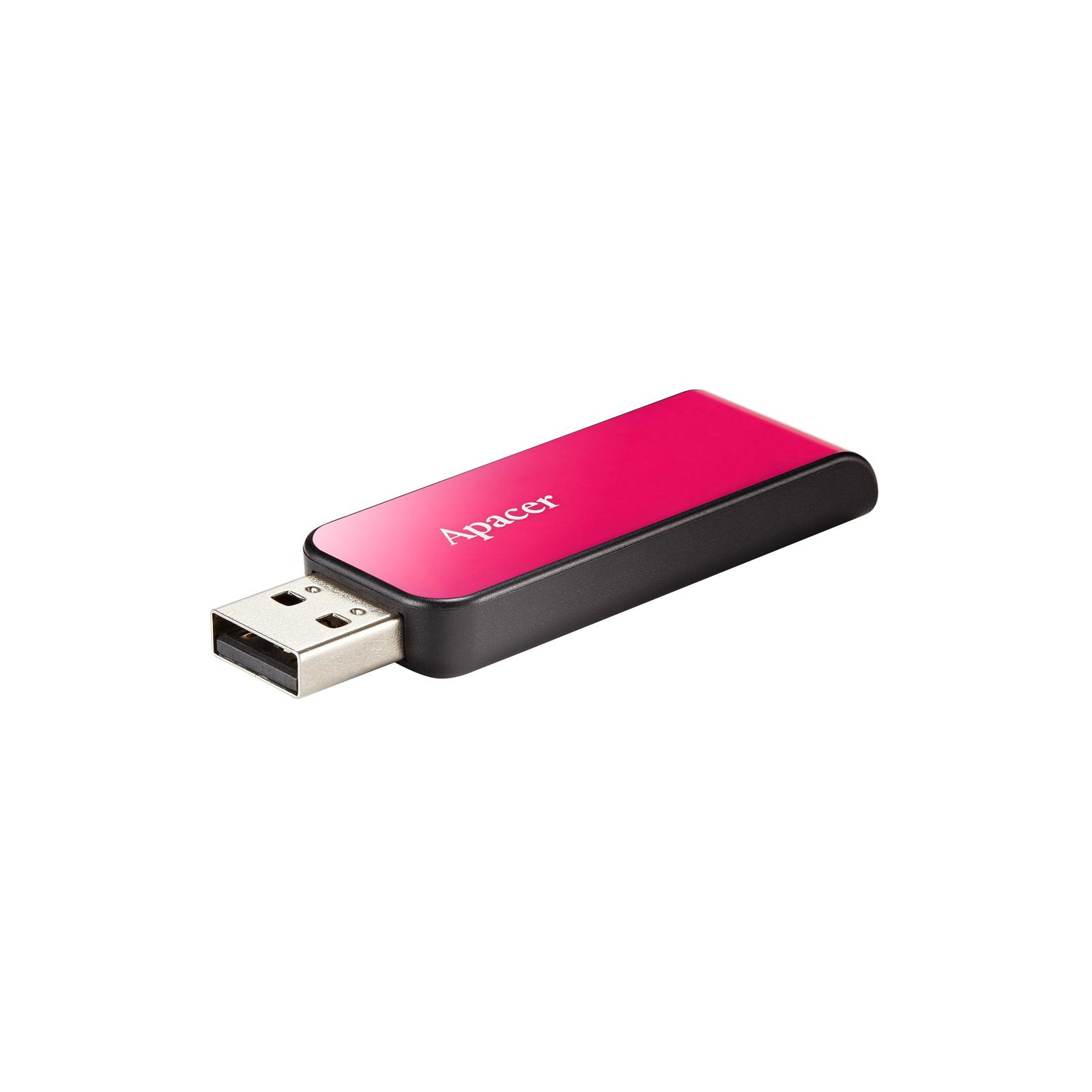 USB флеш накопитель Apacer 16GB AH334 pink USB 2.0 (AP16GAH334P-1) изображение 3