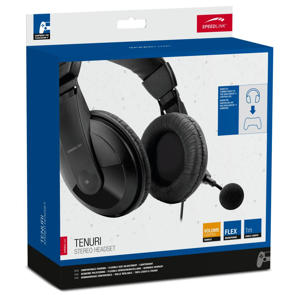 наушники Speedlink Tenuri Stereo Headset For Ps4 Black Sl 4531 Bk