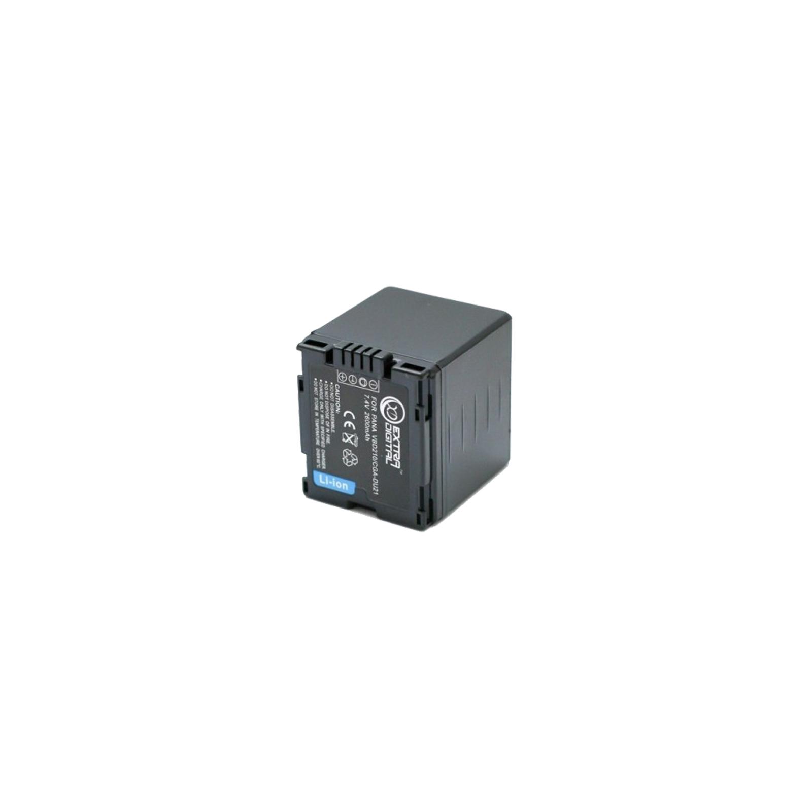 Аккумулятор к фото/видео EXTRADIGITAL Panasonic VBD210, CGA-DU21 (BDP2580) изображение 2